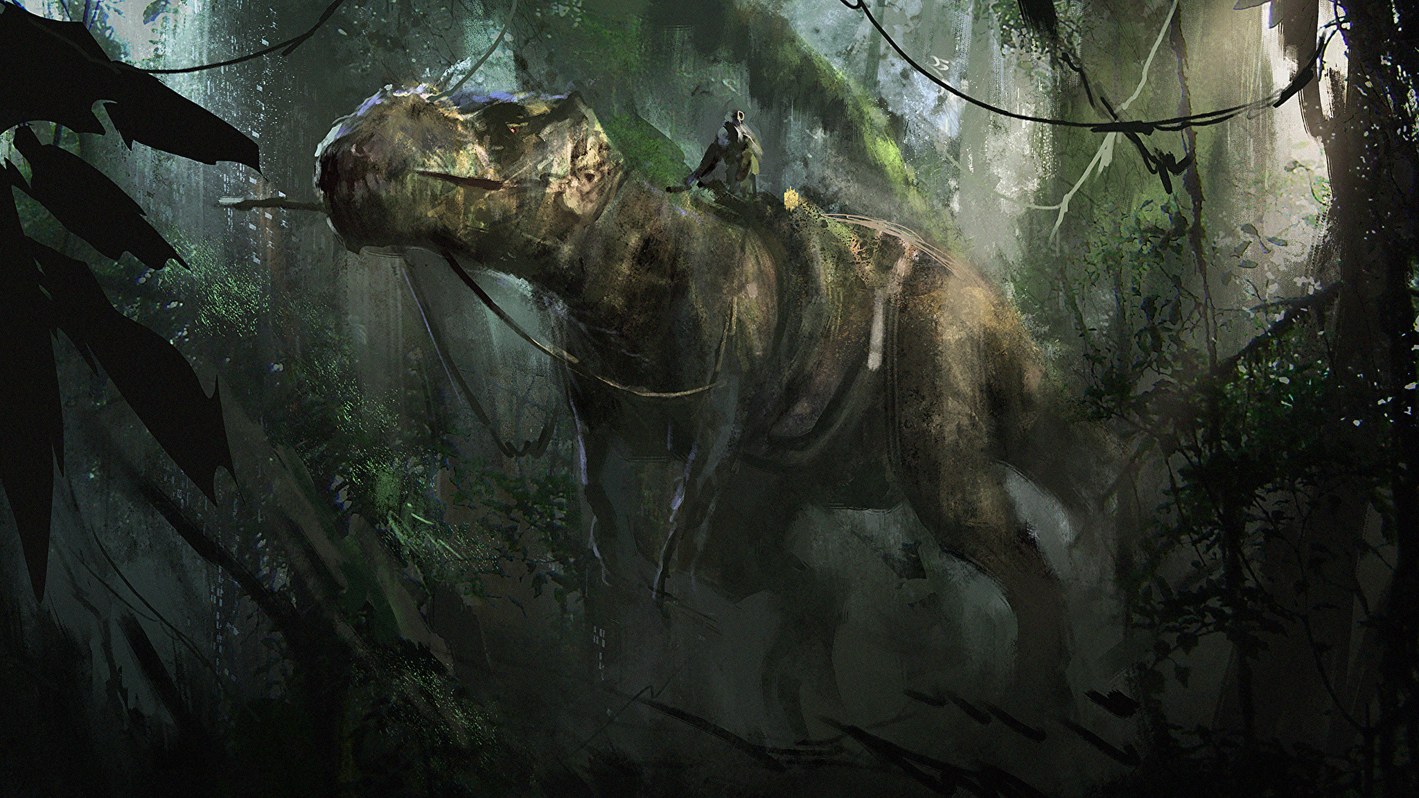 2048x1152 Wallpapers Tyrannosaurus rex Dinosaurs T-Rex Animals