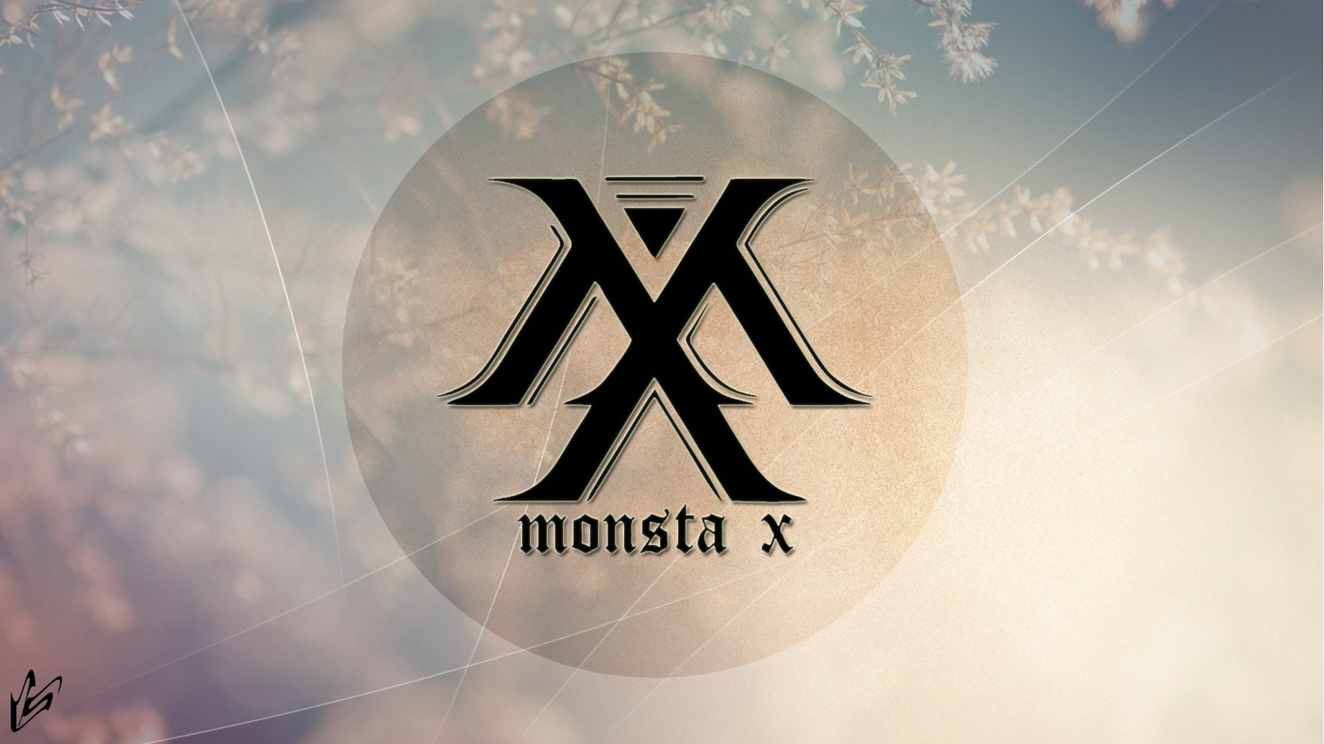 1920x1080 ... Monsta X logo - wallpaper by Starzphoenix