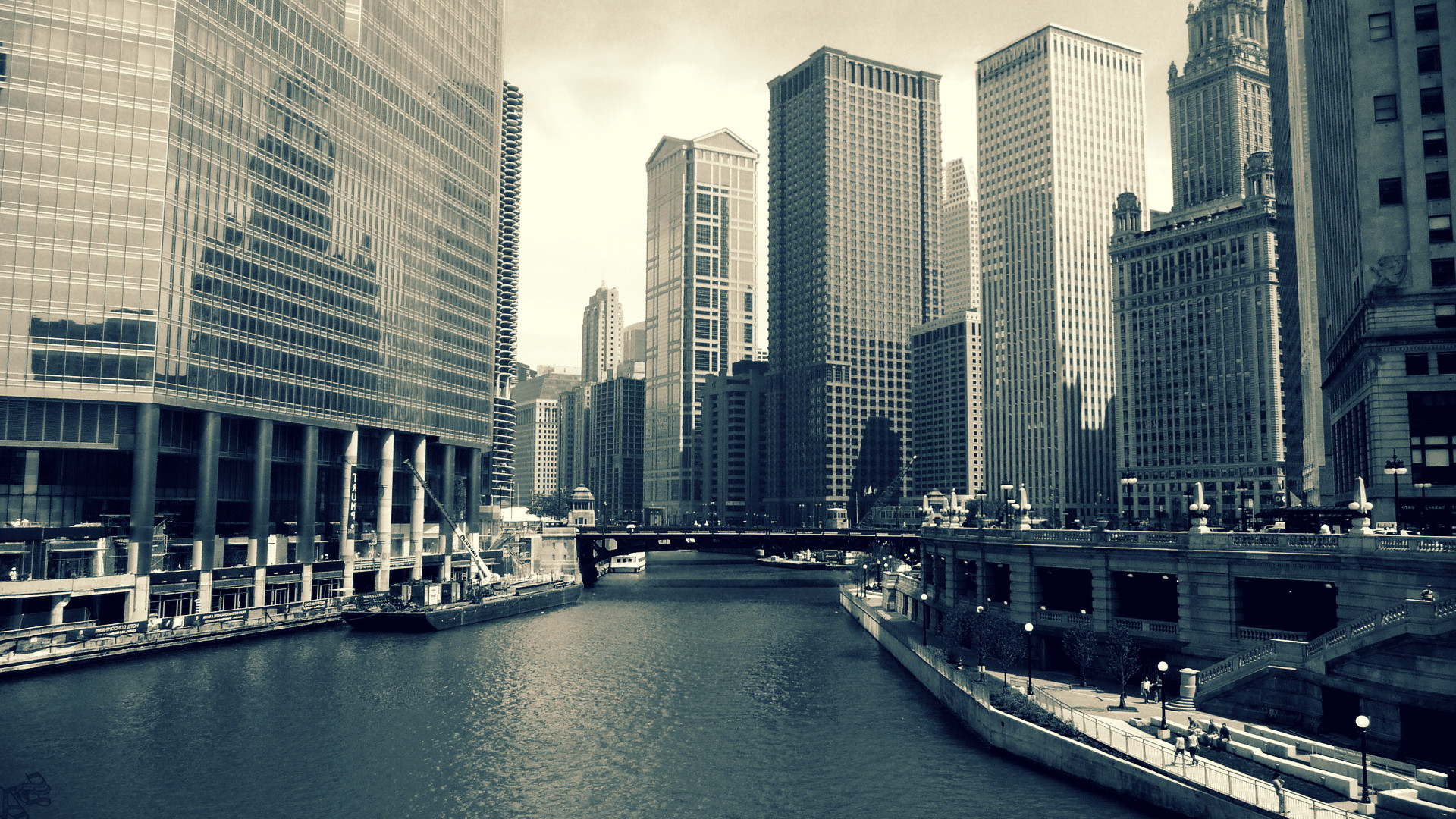 1920x1080 building, Urban, City, River, Chicago Wallpapers HD / Desktop and Mobile  Backgrounds