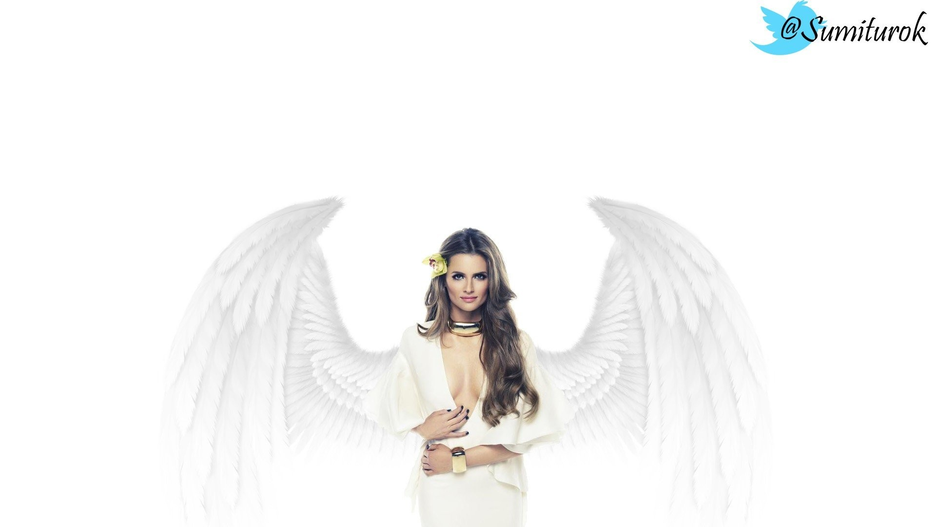 1920x1080 ... angels wings Stana Katic wallpaper ...