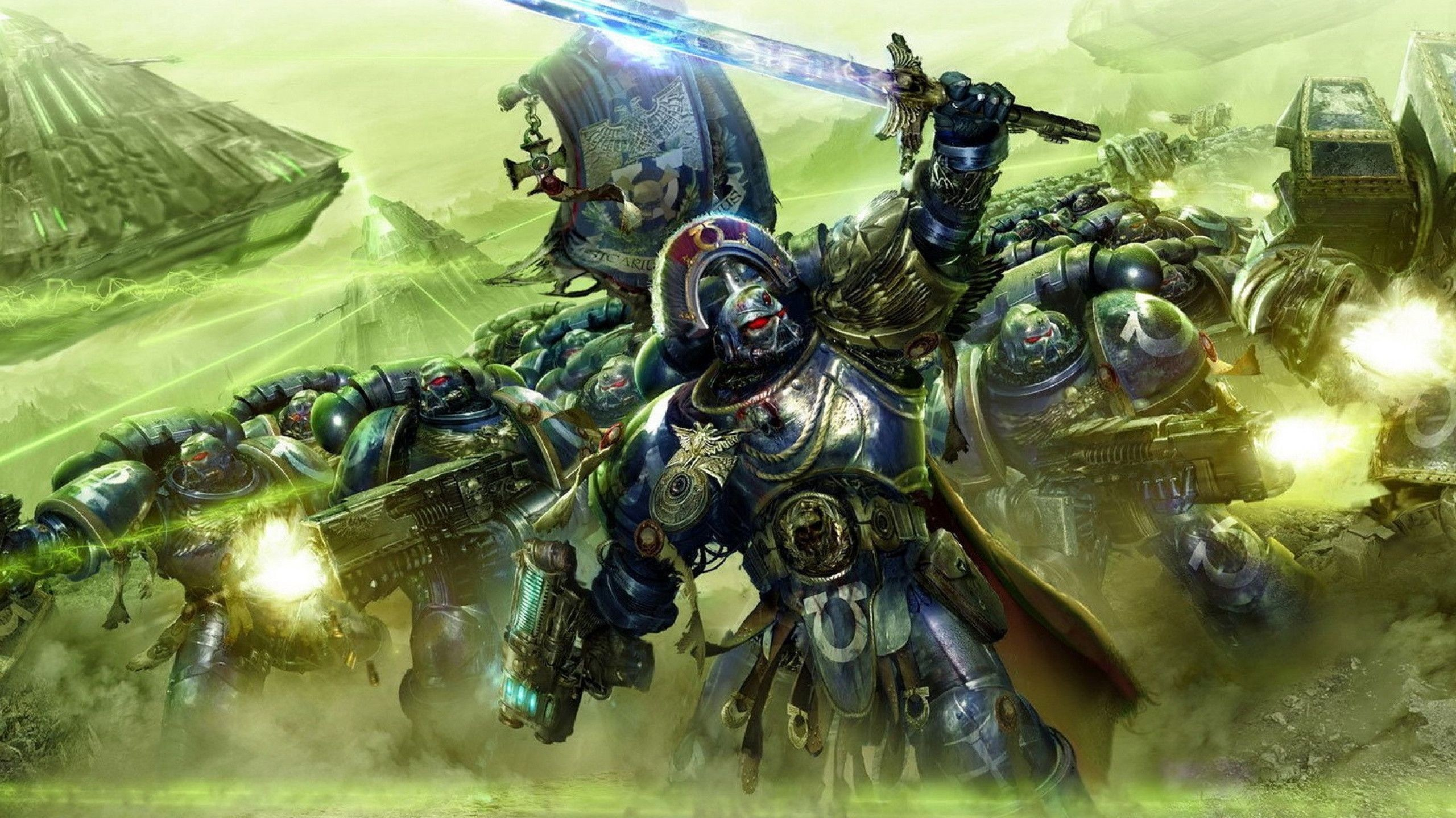 2560x1440 Space Marine Wallpapers Art