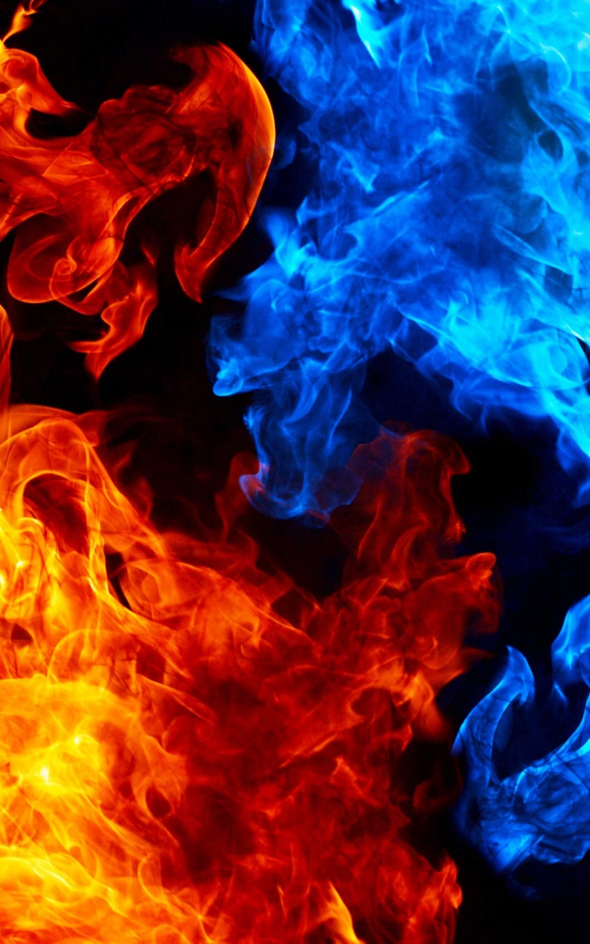 red and blue fire wallpaper (59+ images)