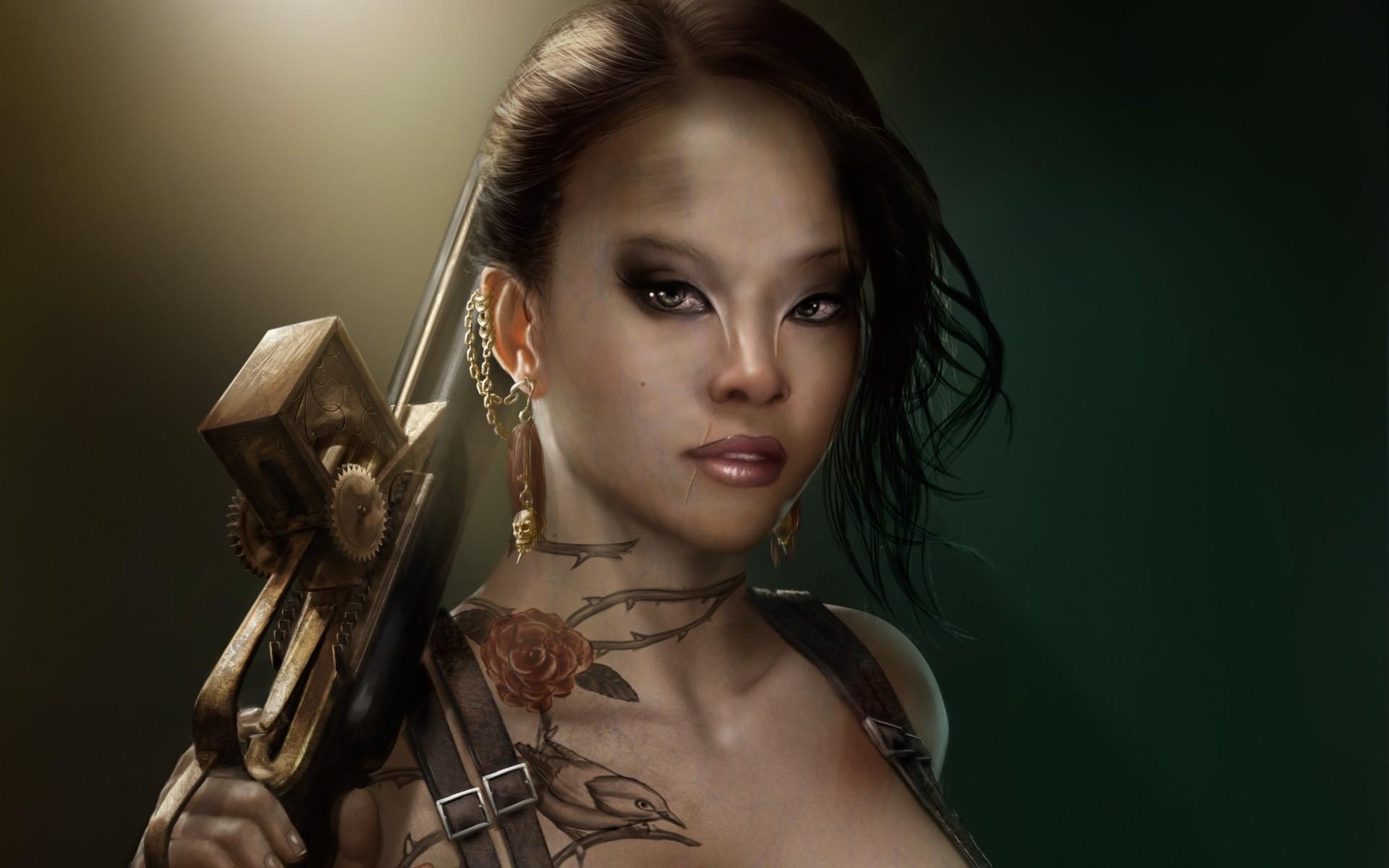 Fantasy Art Female Gunslinger