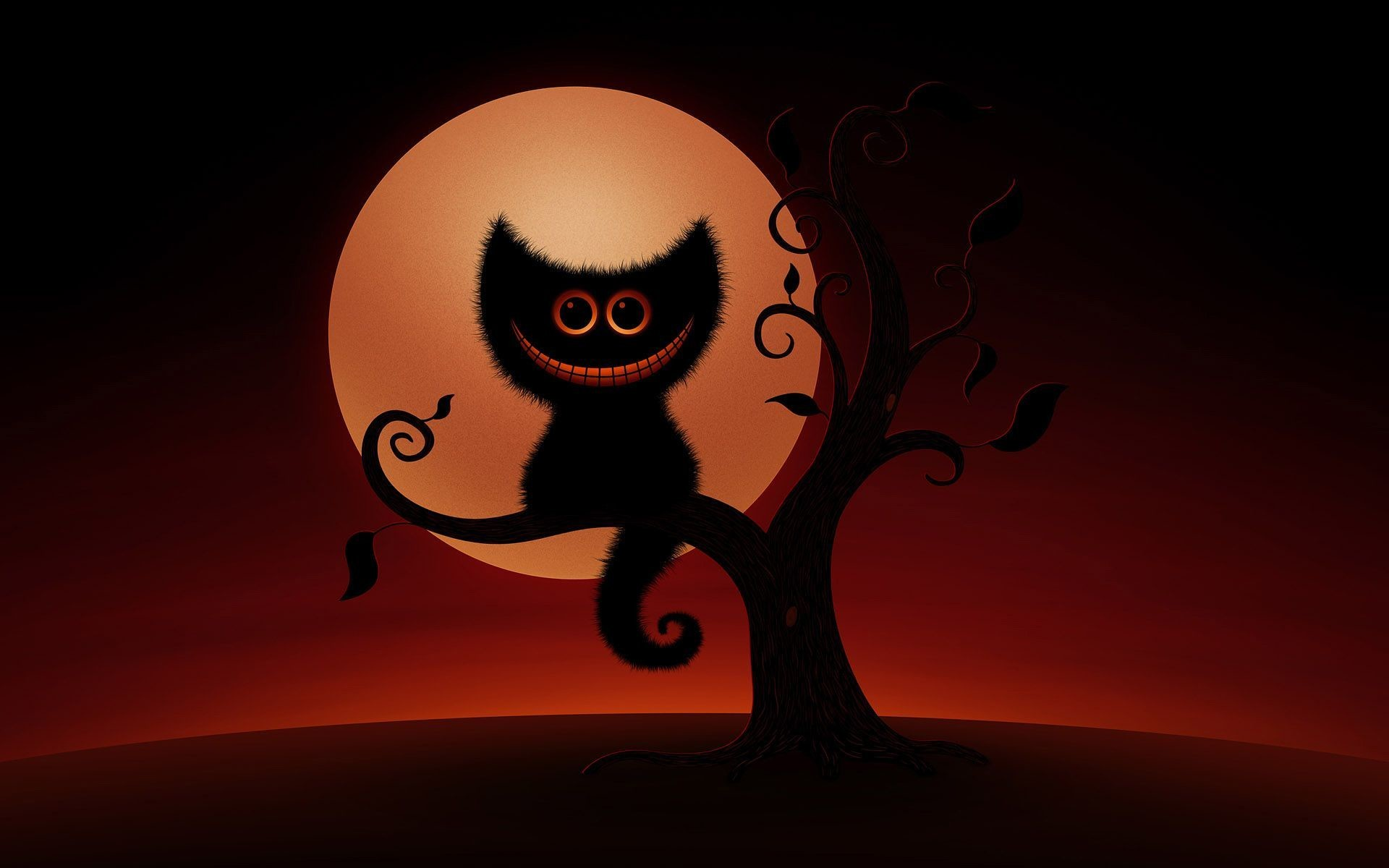 1920x1200 Halloween Cat HD Desktop Wallpaper, Background Image
