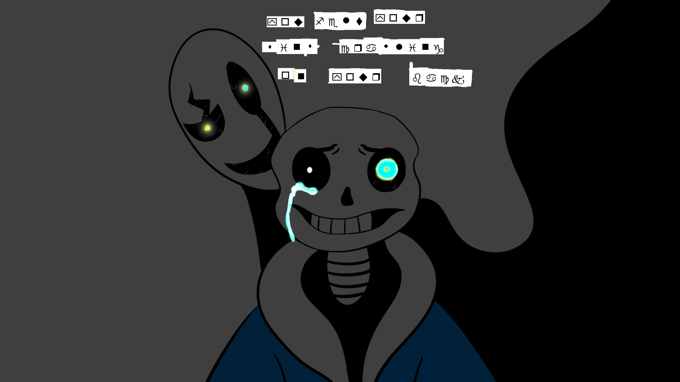 2592x1456 Undertale: Gaster Blaster by Rides111 on DeviantArt