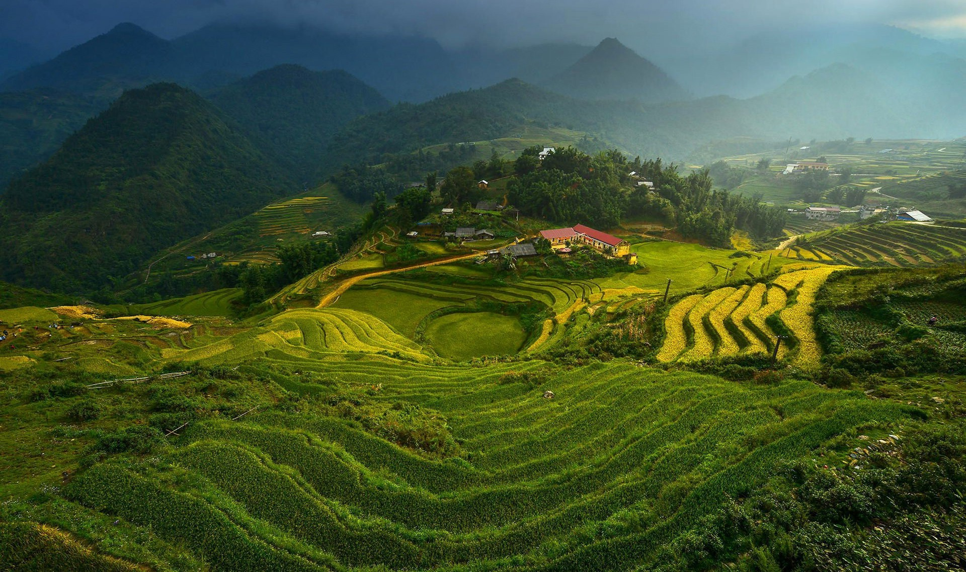 1920x1137 landscape, Vietnam, Terraced Field Wallpapers HD / Desktop and Mobile  Backgrounds