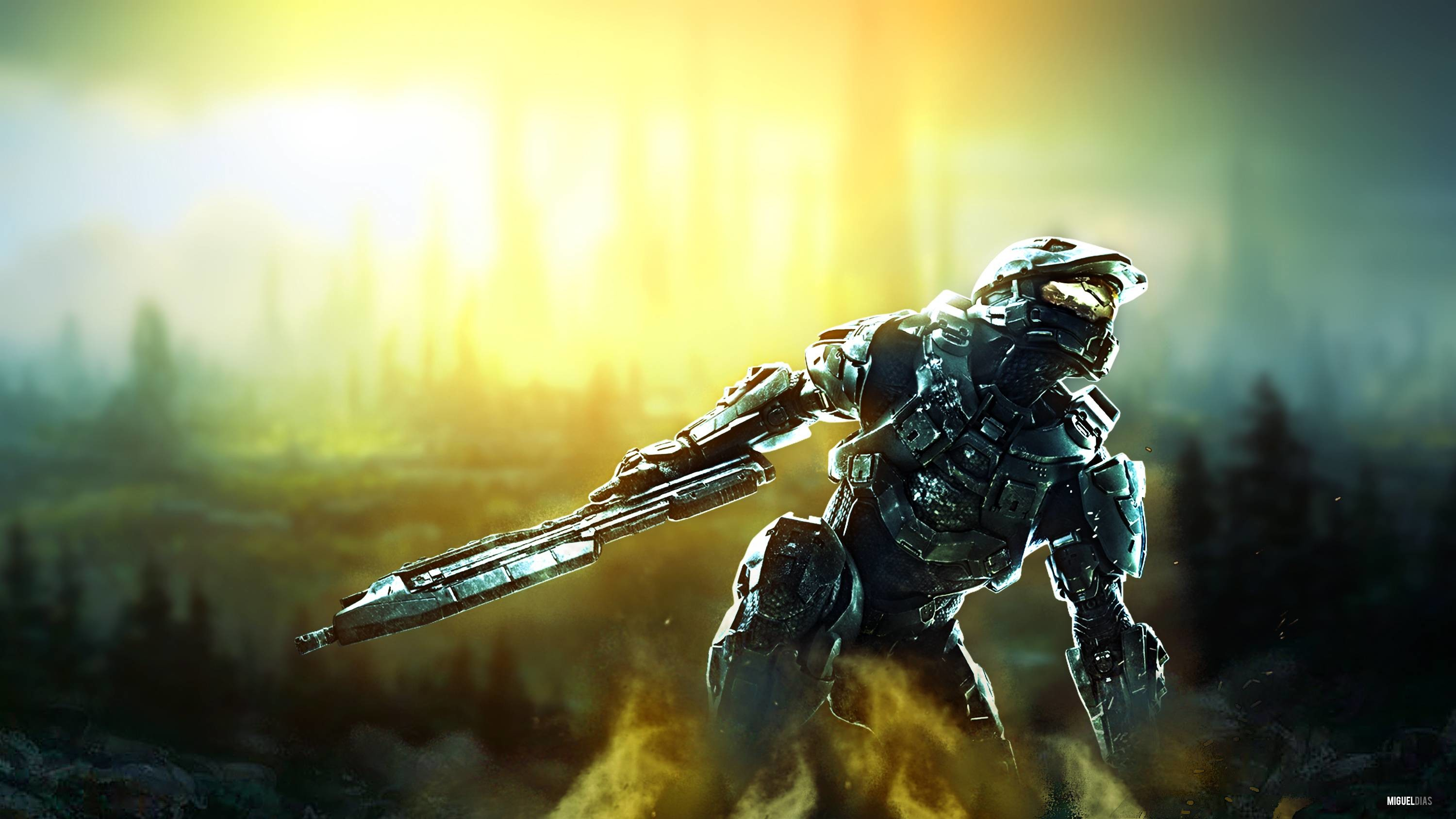 3000x1688 I made a high-res Halo wallpaper.