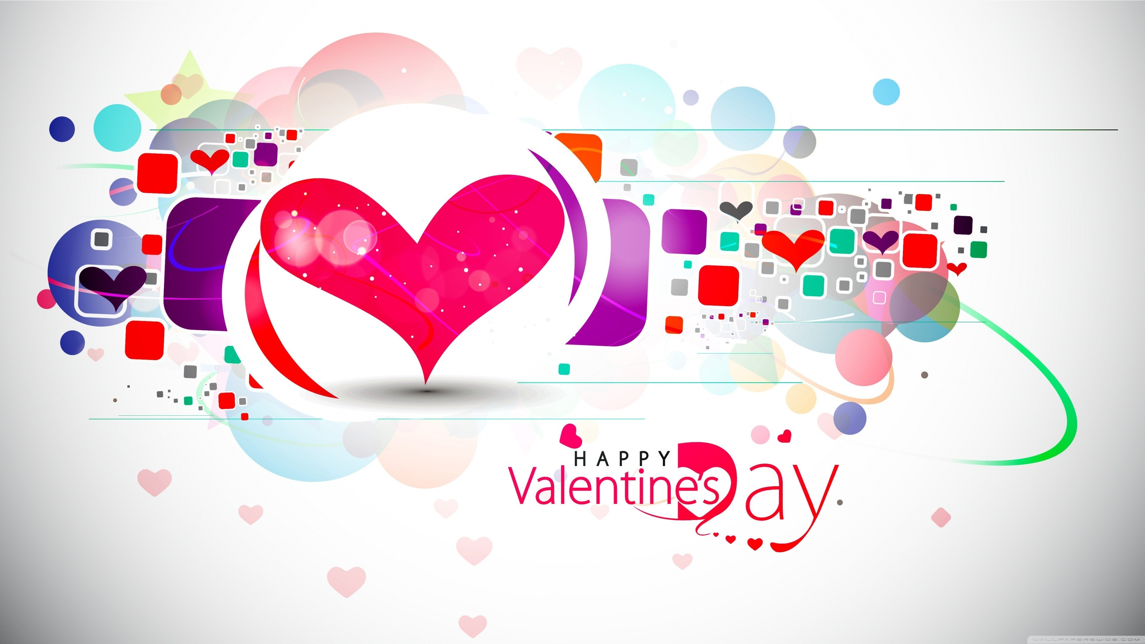 3840x2160 Valentines day abstract happy wallpaper