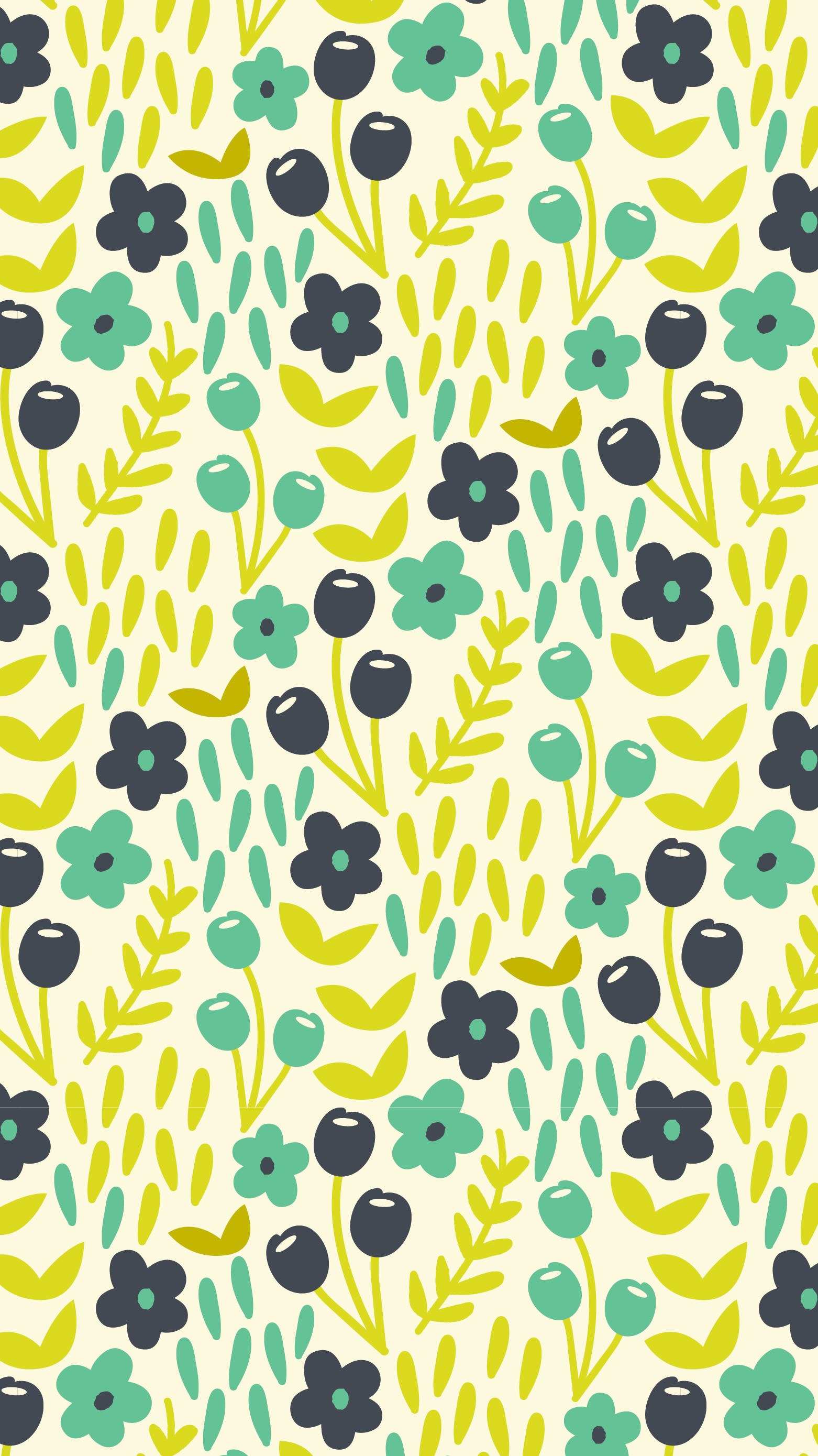 1562x2779 Spring Floral Pattern - iPhone, iPad wallpaper - Three Cheers + Co.