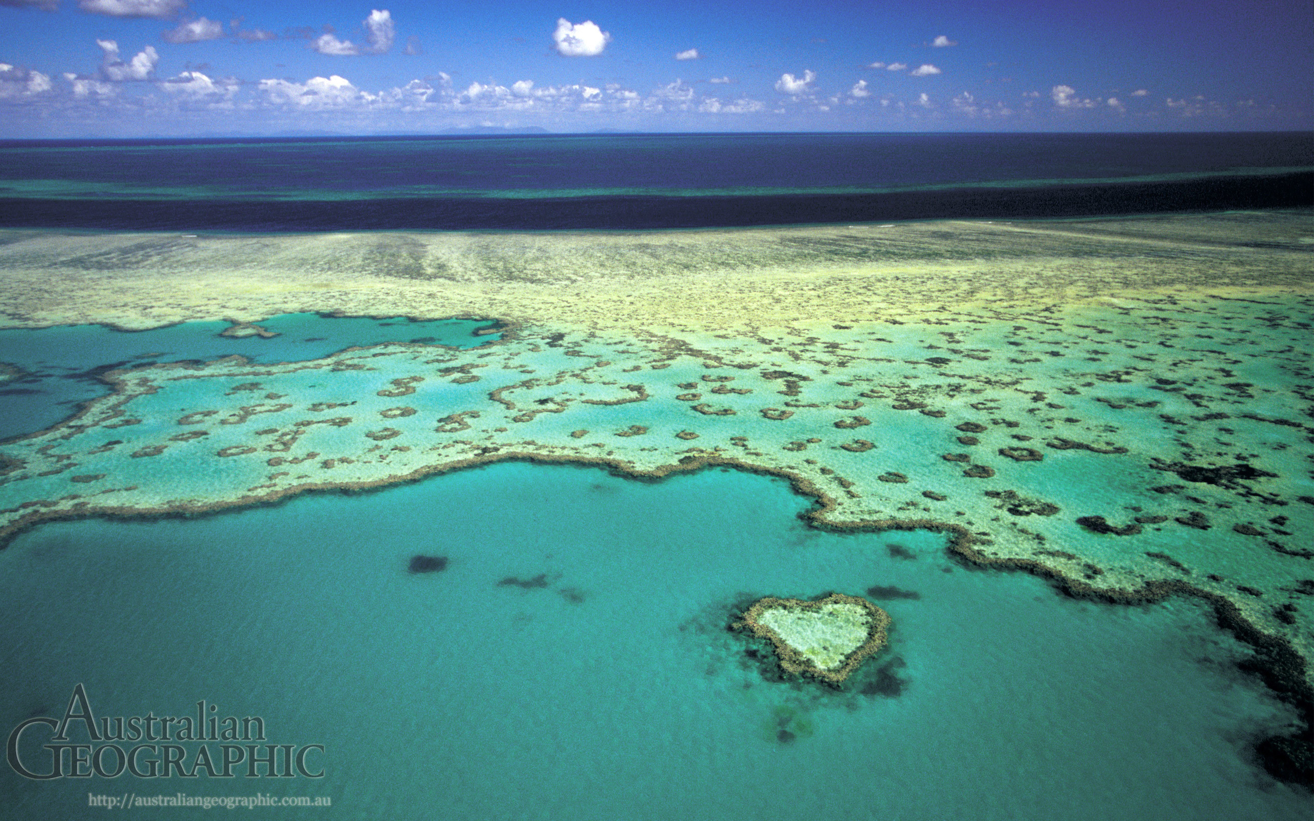 2560x1600 Wallpapers. Heart Reef, Great Barrier Reef, QLD