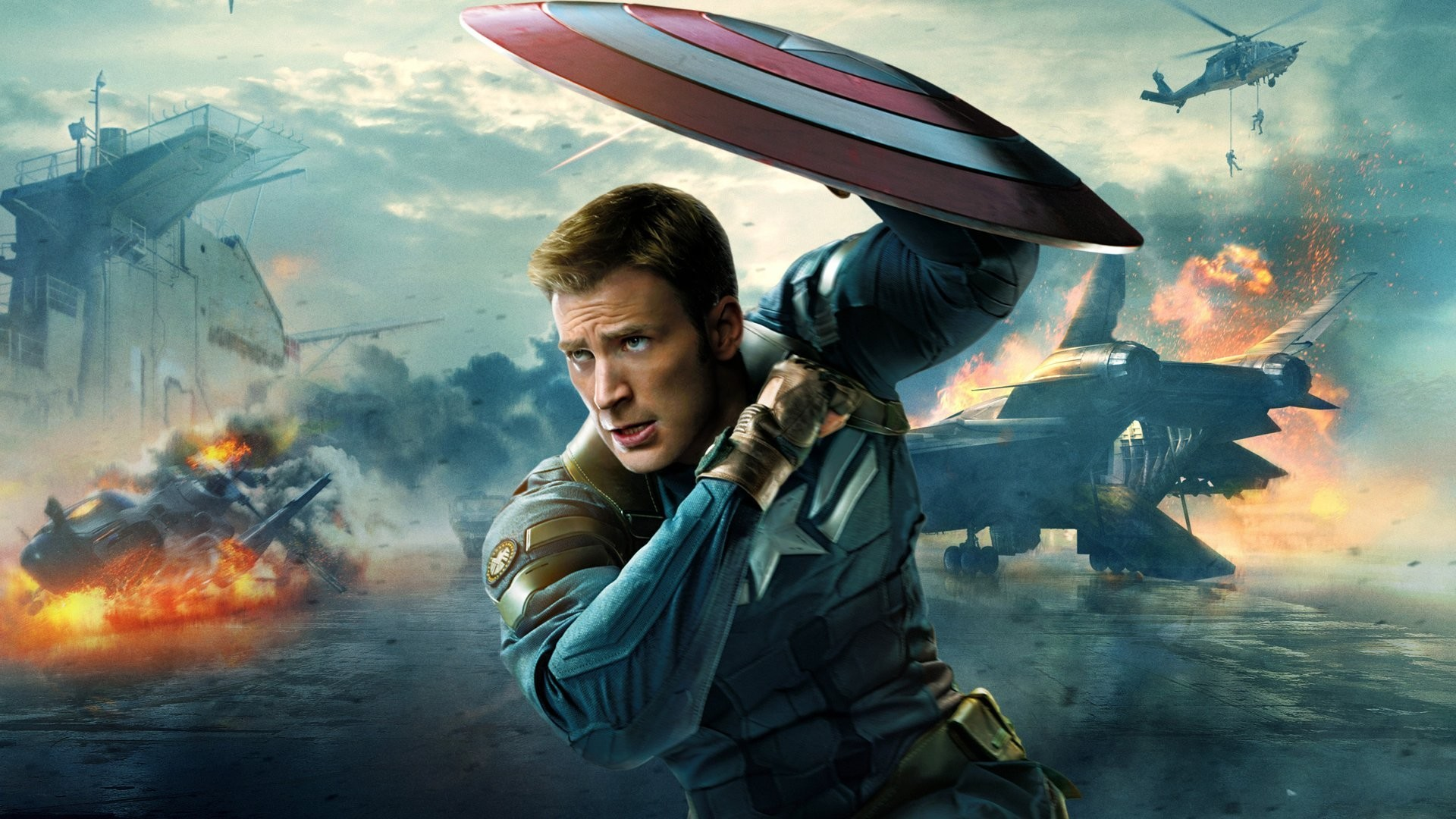 1920x1080 captain america: the winter soldier steve rogers chris evans marvel shield