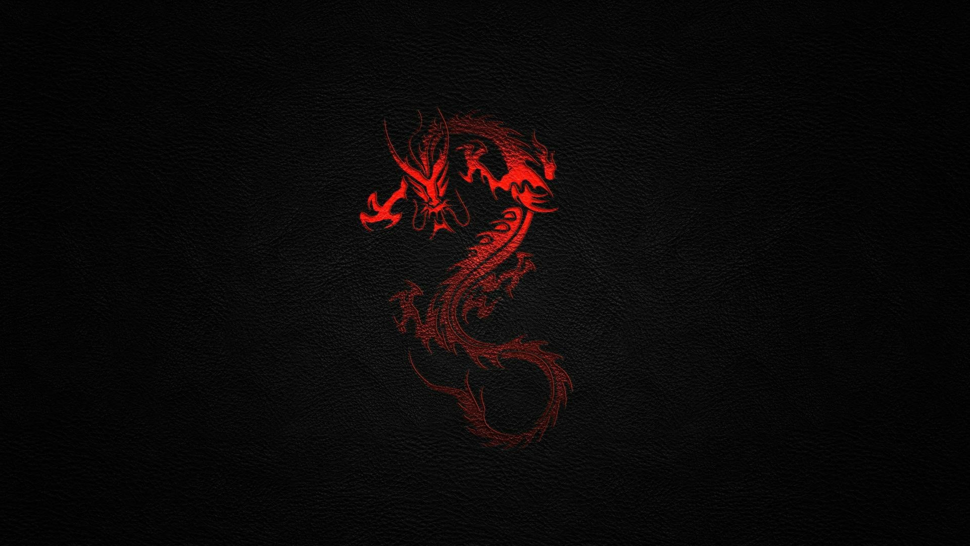 1920x1080 Black red dragon desktop wallpaper