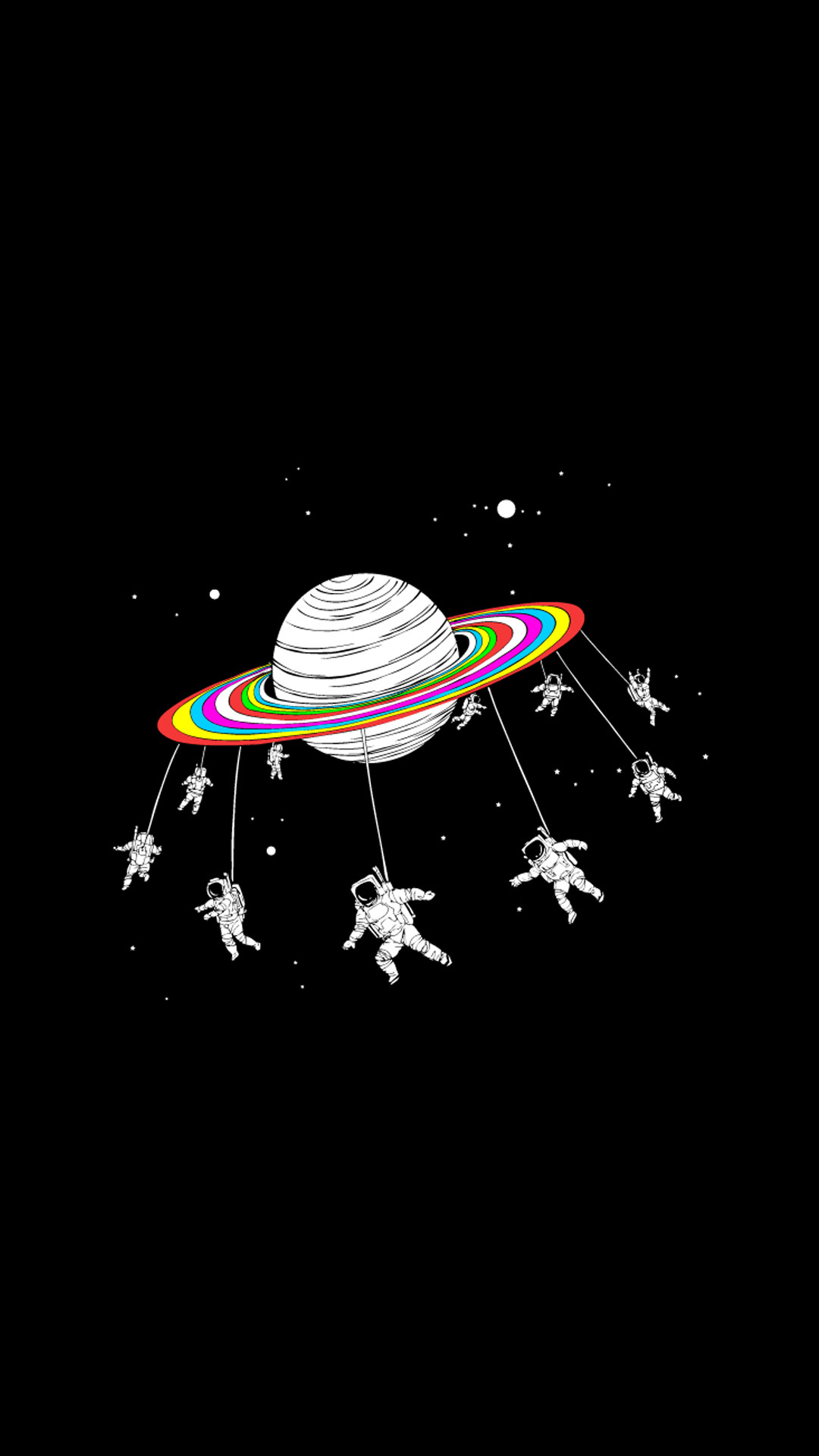 1080x1920 Astronauts Merry Go Round Planet Space HD Wallpaper for iPhone 6