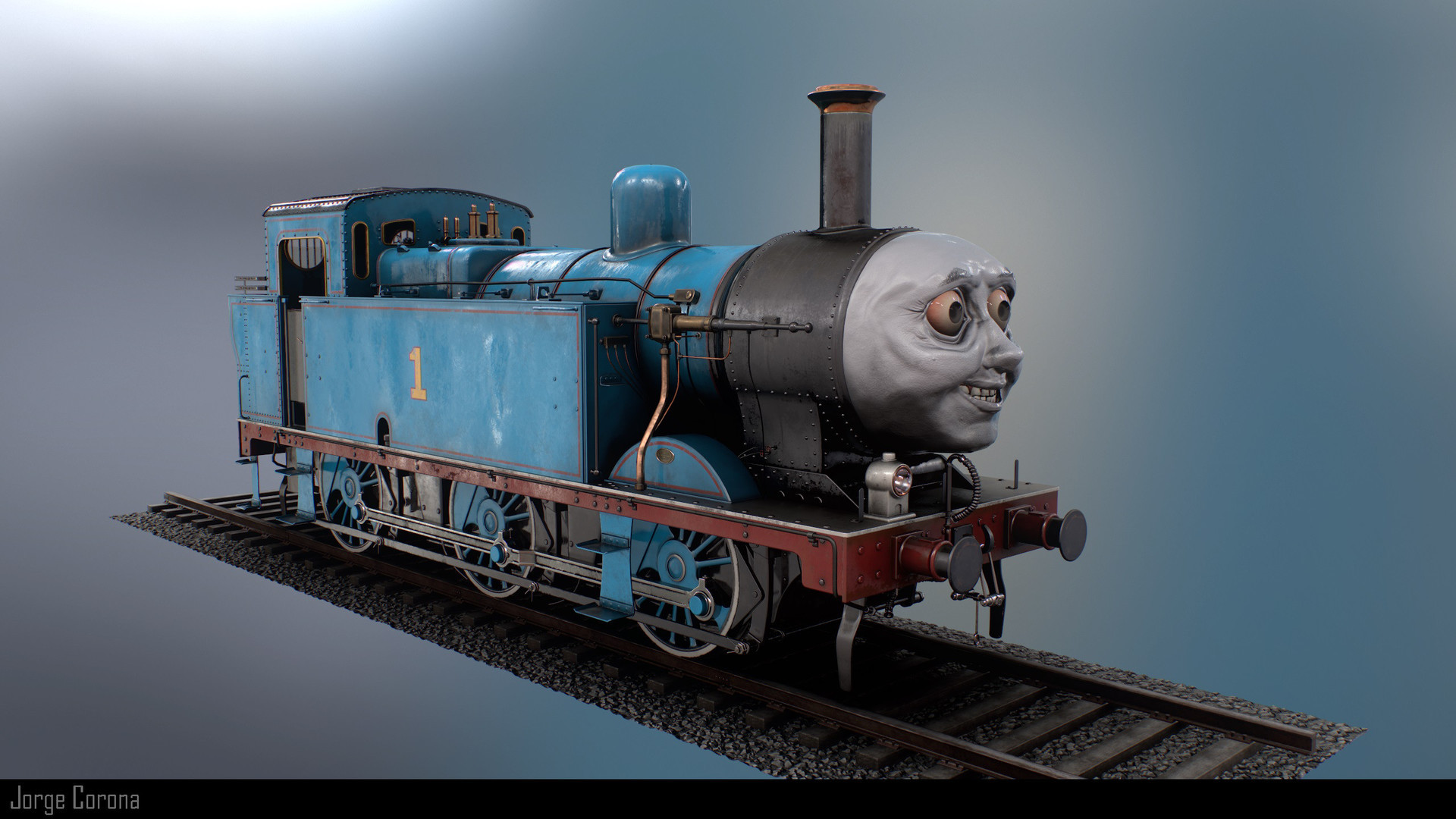 1920x1080 This last render is just for fun. Thomas does look creepy, so might as well  embrace it !