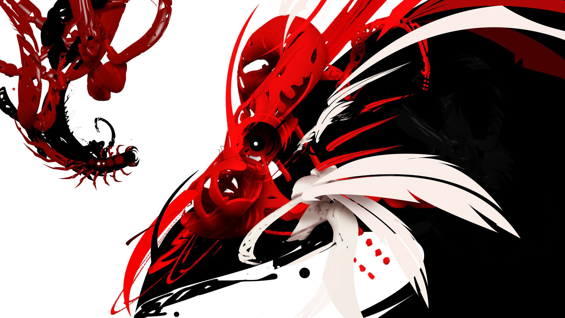 1920x1080 Black And Red Dragon Wallpaper Black White And Red Wallpaper