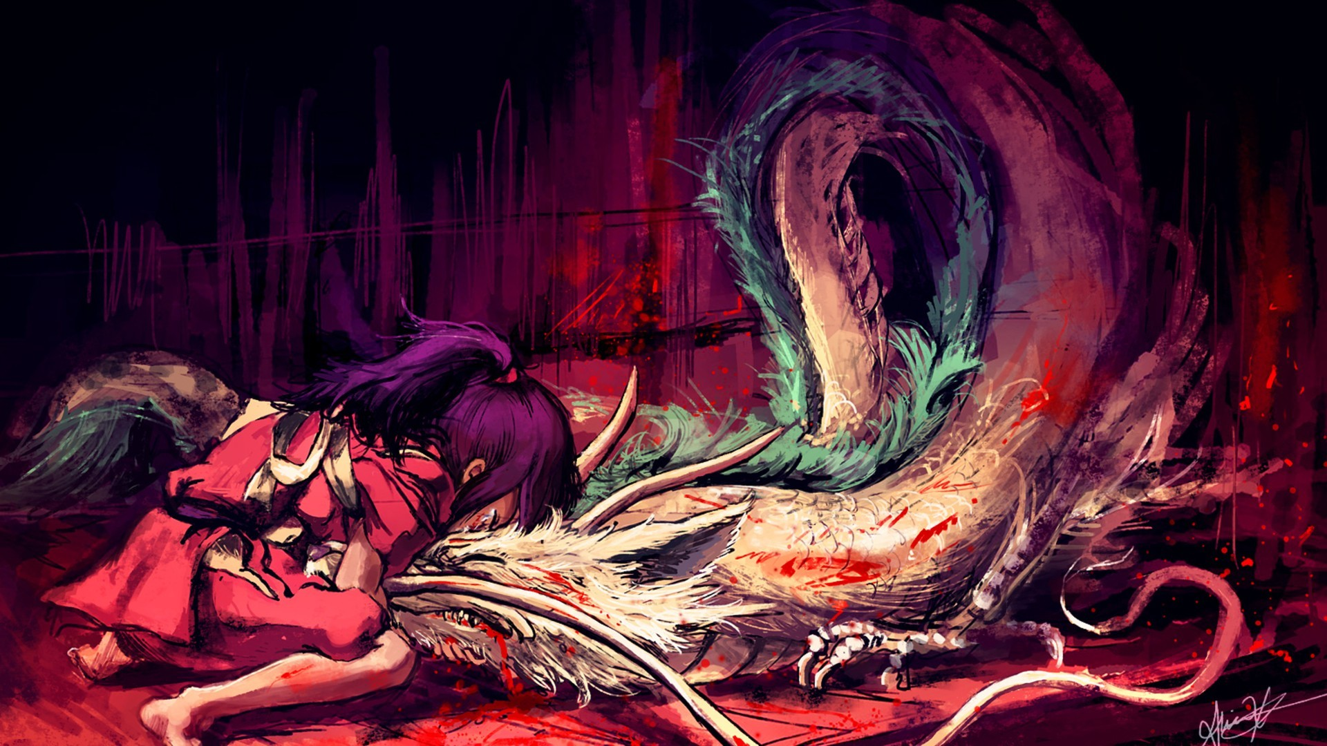 1920x1080 Spirited Away haku Studio Ghibli sin Chihiro wallpaper |  | 225584  | WallpaperUP