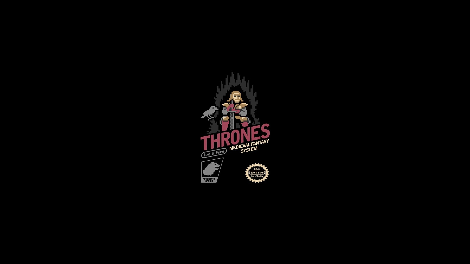 1920x1080 abstract, video, solid, Game of Thrones, 8bit, simplistic, simple .