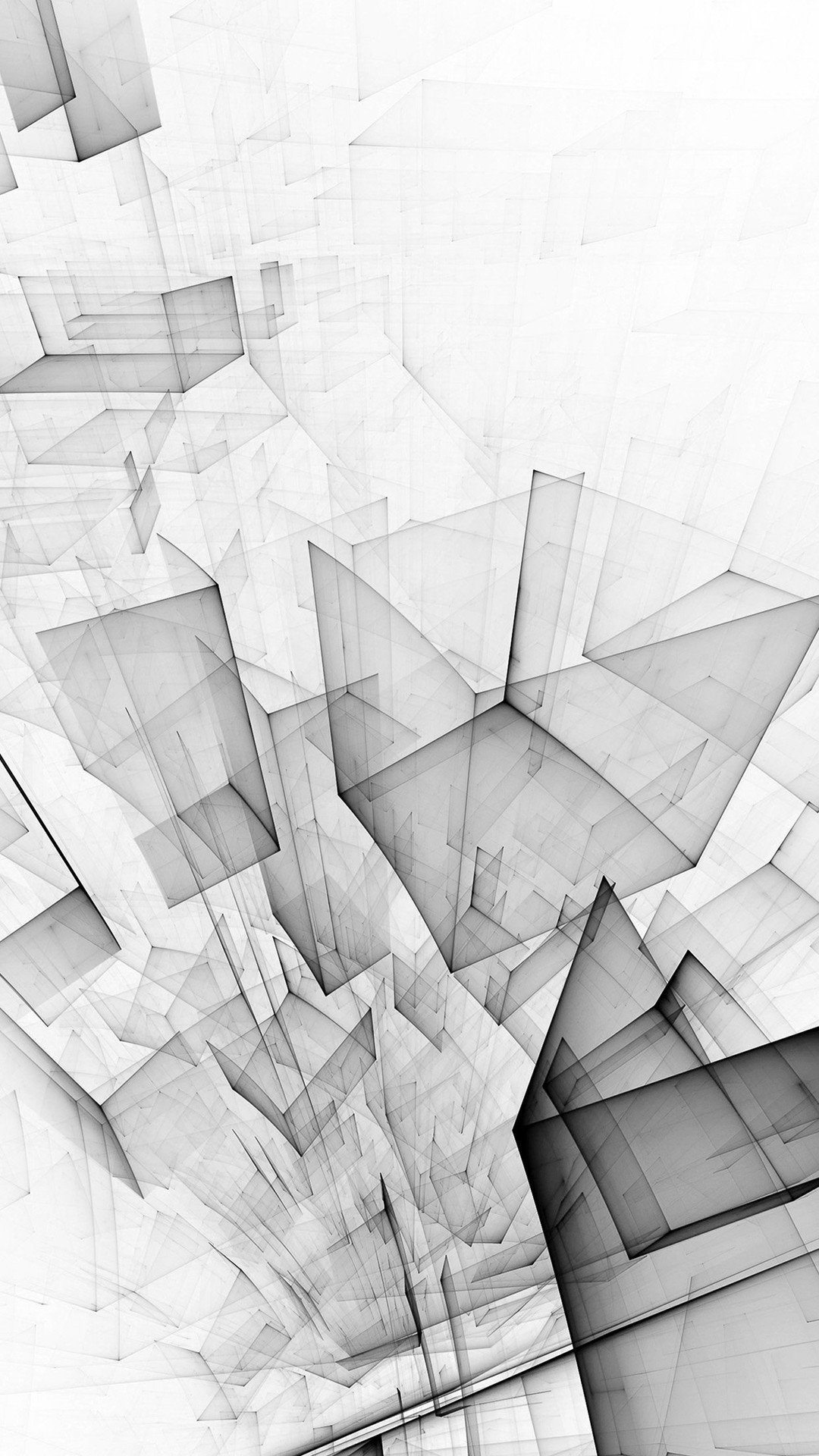 Res: 1080x1920, Abstract Bw White Cube Pattern iPhone 8 wallpaper