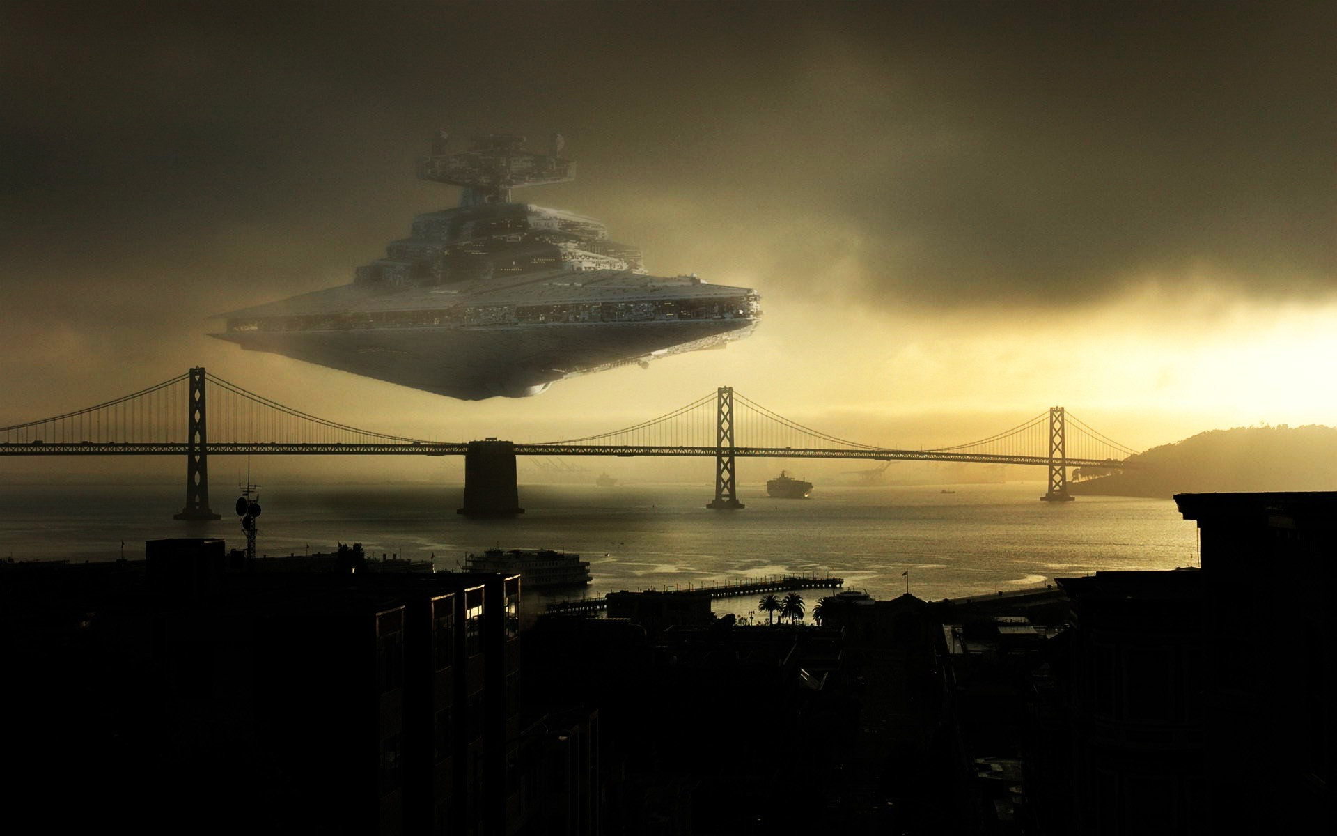 1920x1200 Star Wars, Star Destroyer, San Francisco Wallpapers HD / Desktop and Mobile  Backgrounds