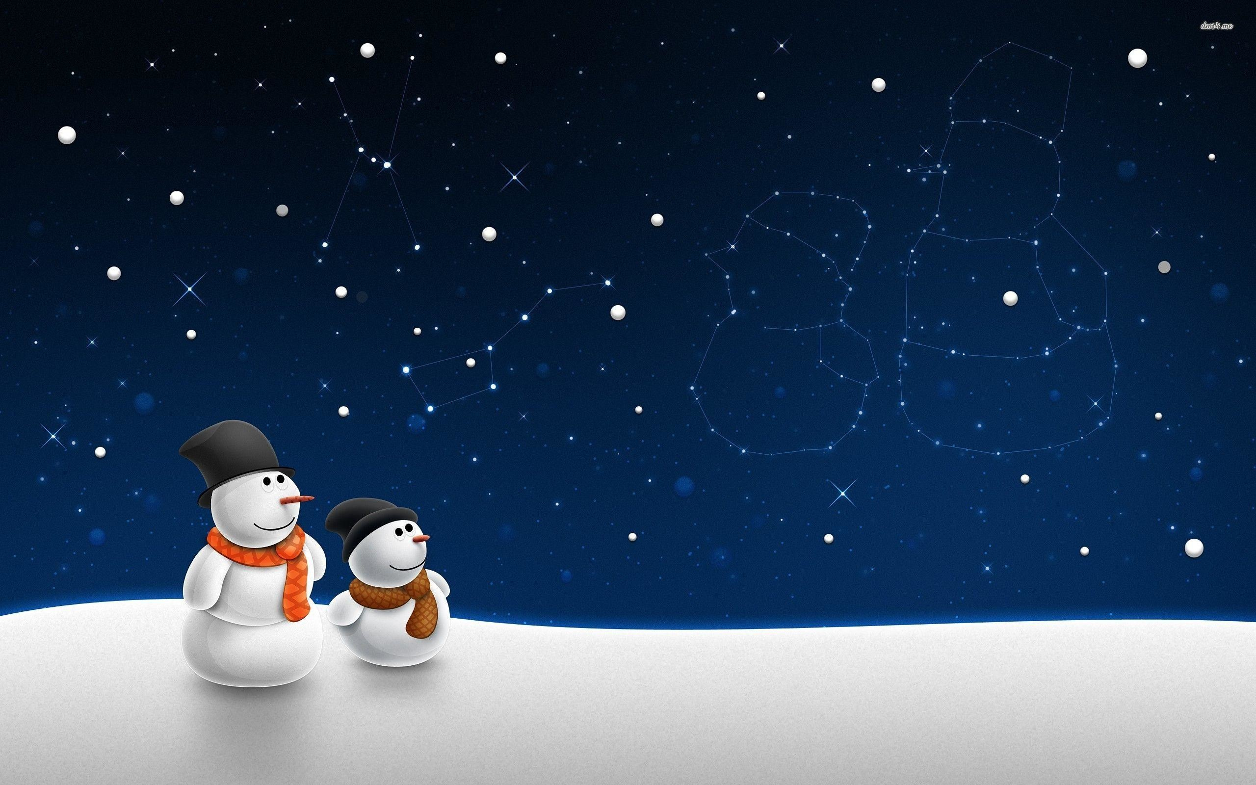 Snowman wallpaper for computer images