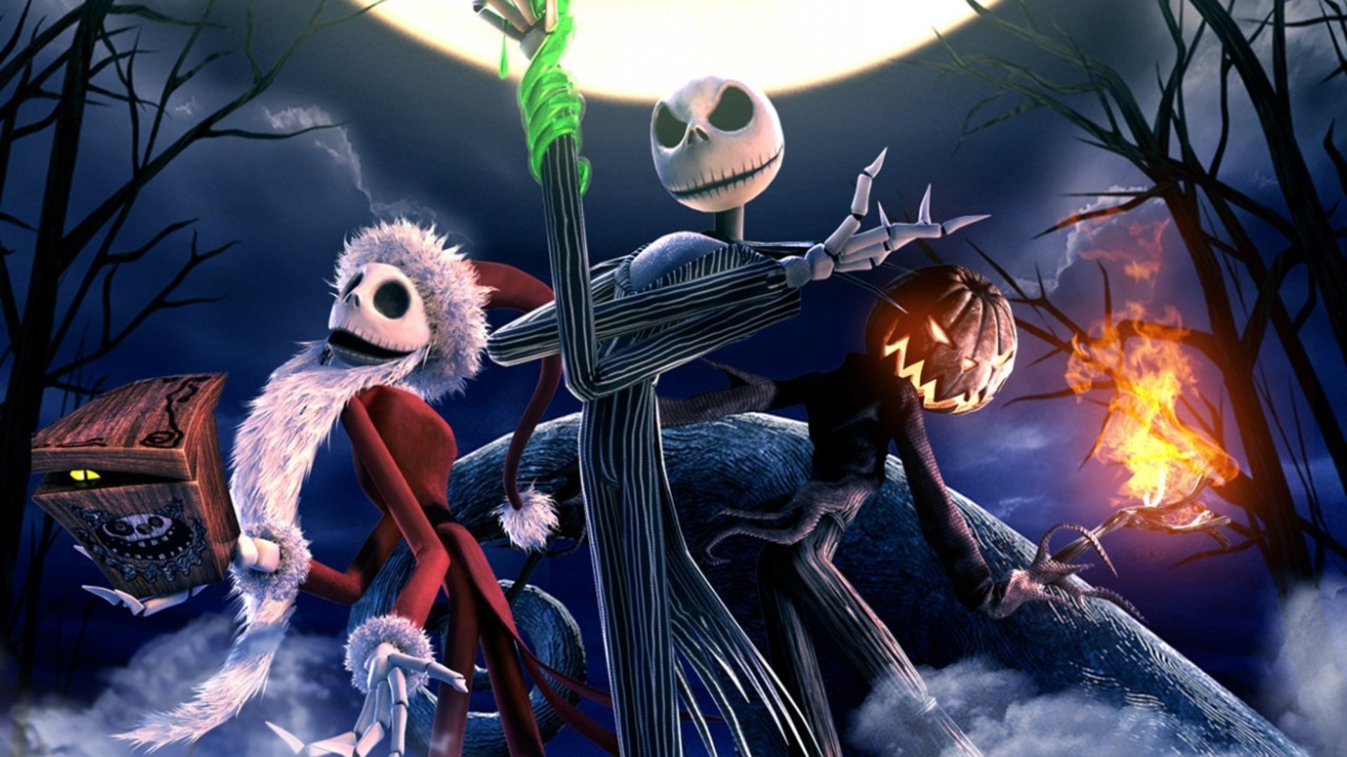 1920x1080  The Nightmare Before Christmas Skeletons