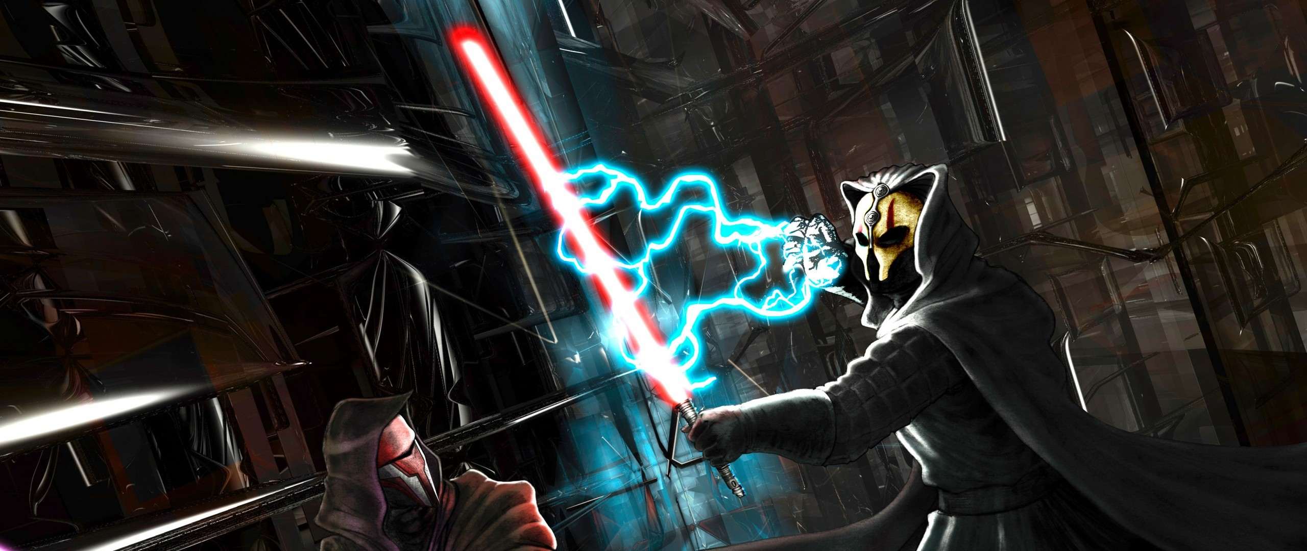 2560x1080 Preview wallpaper star wars, knights of the old republic, darth revan,  darth nihilus