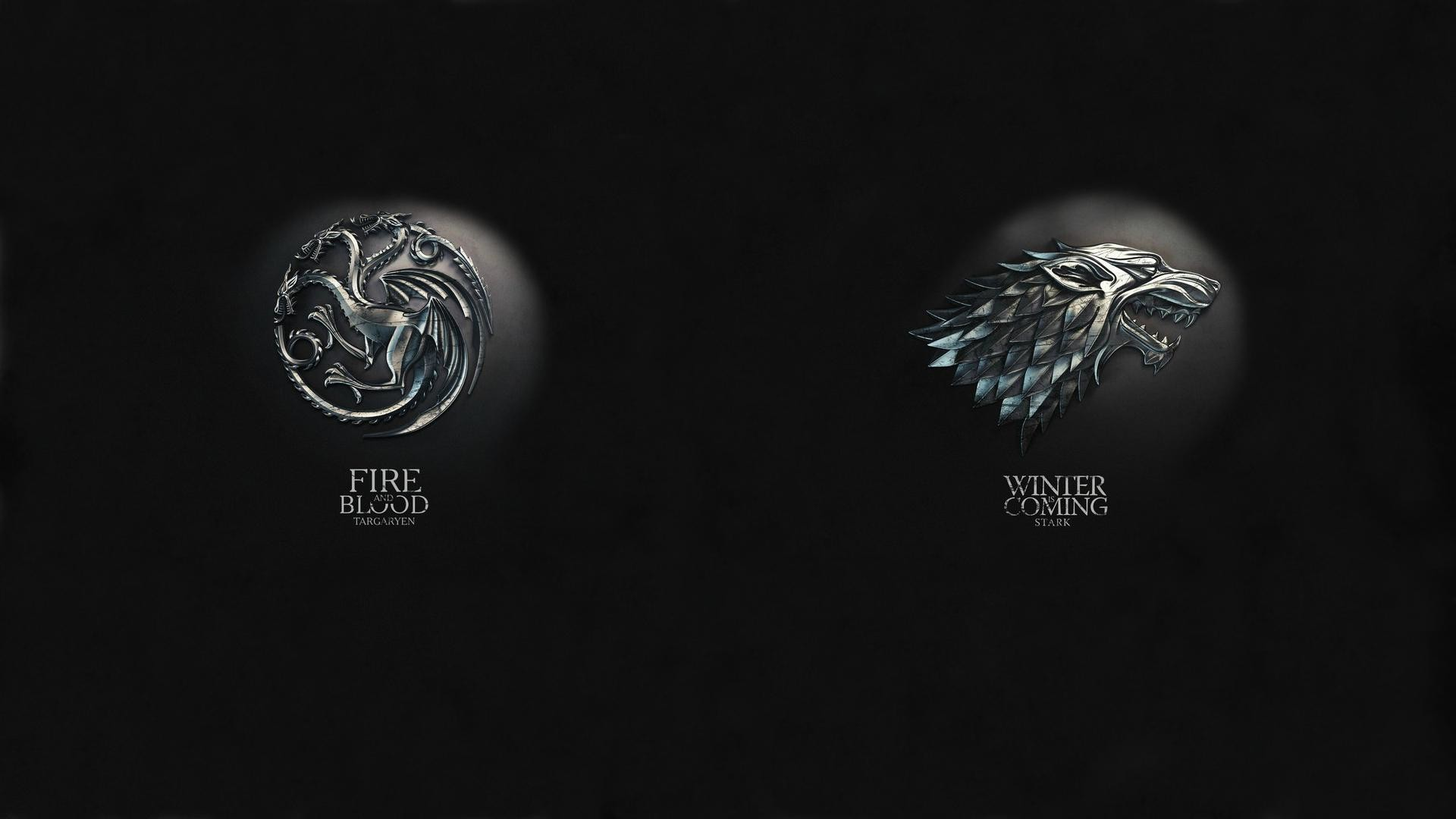 1920x1080 To anyone like me who loves both House Stark and House Targaryen equally,  here's both of them mixed into one wallpaper ...