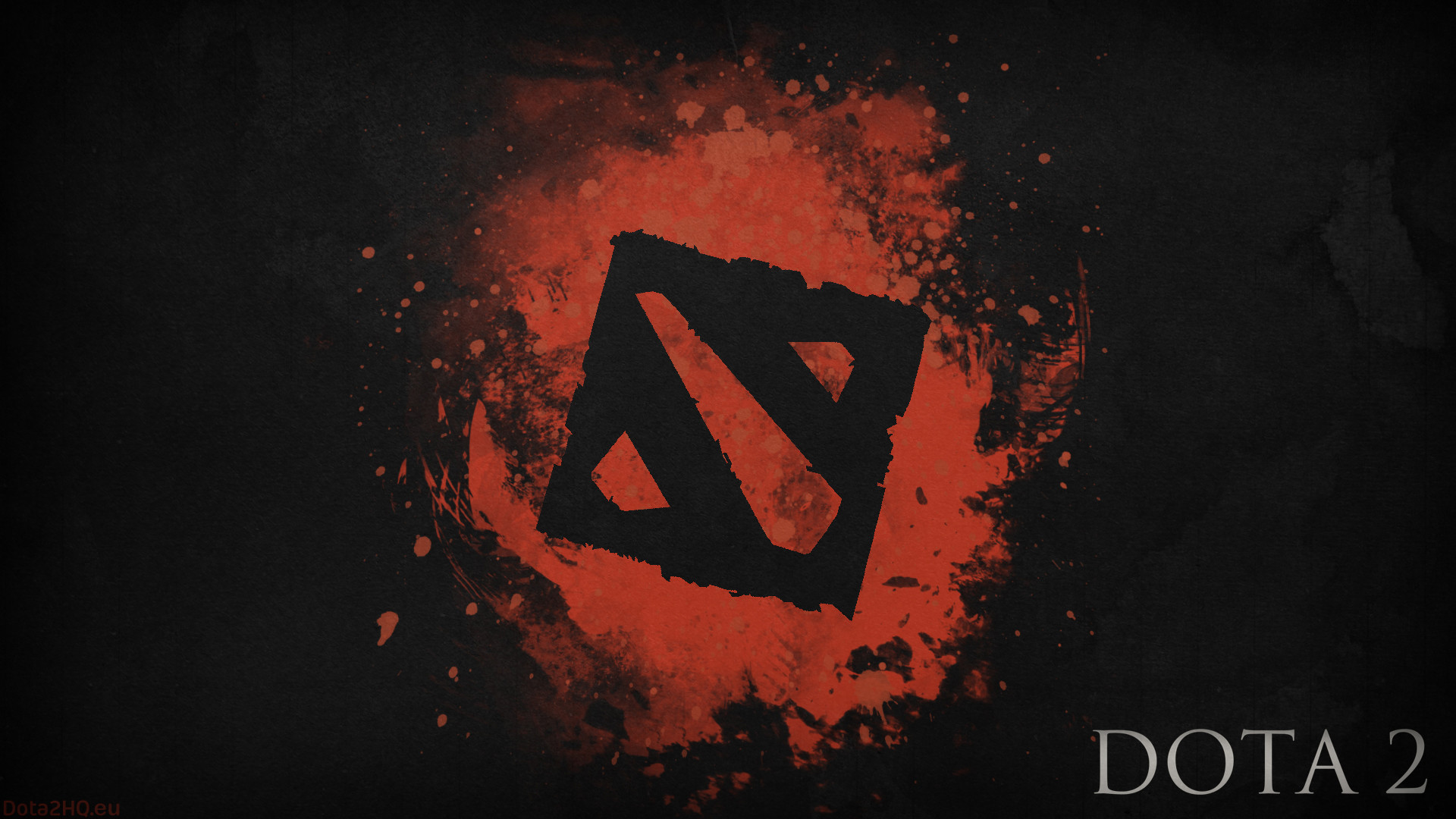 1920x1080 Preview wallpaper dota 2, black logo, art