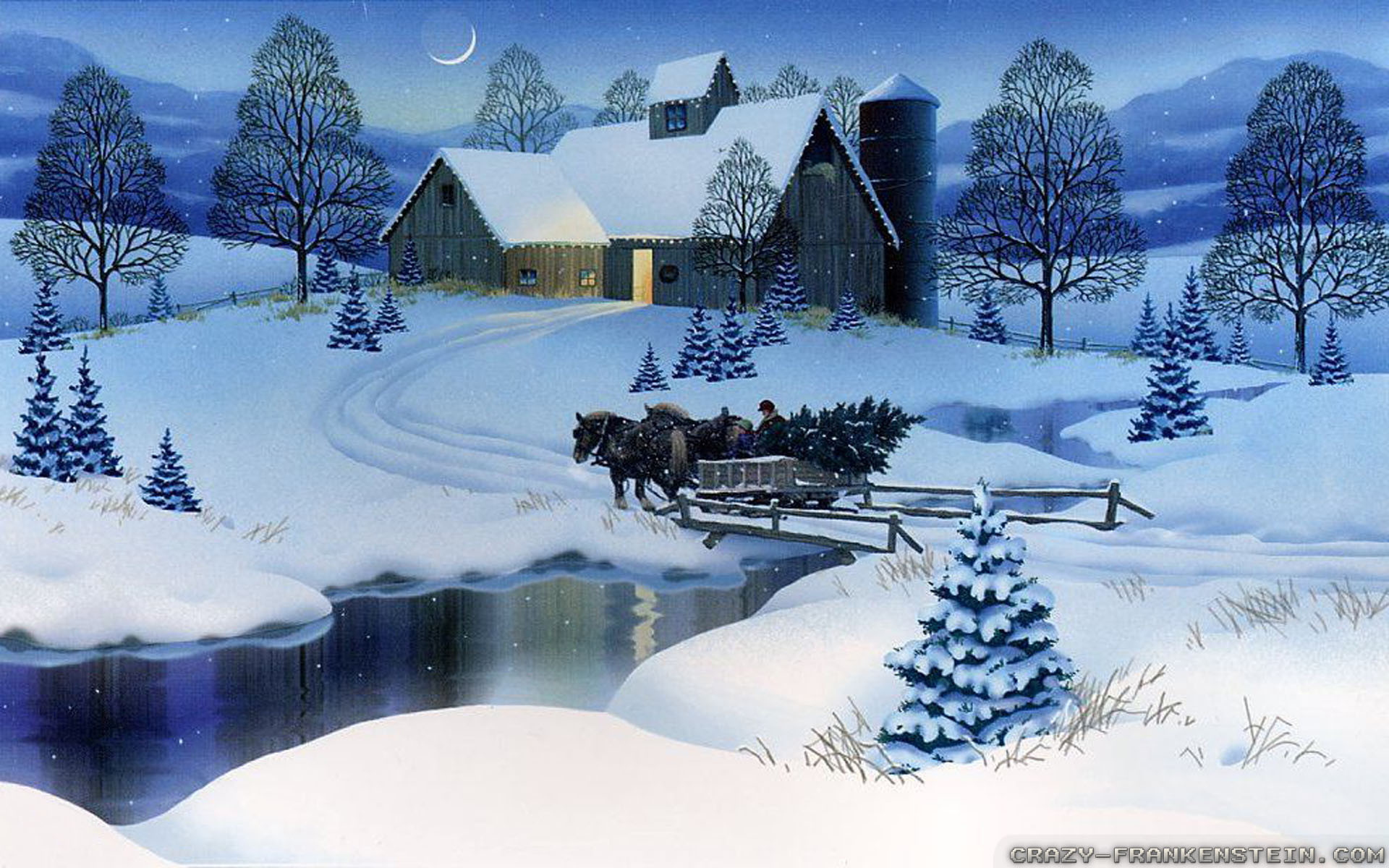 Christmas Scenes Wallpaper (42+ images)