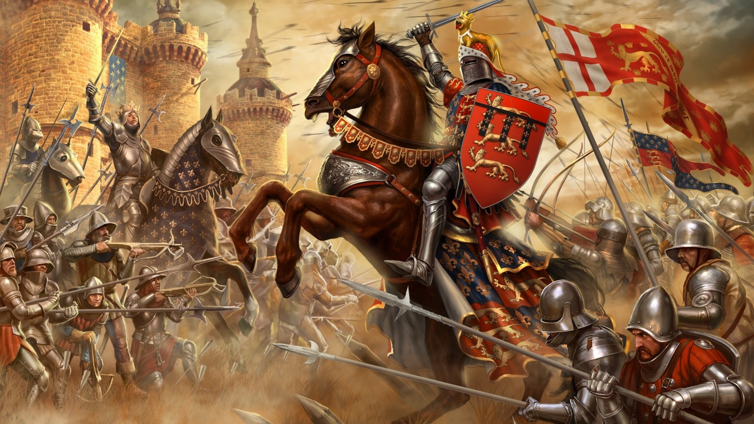 2560x1440 video games england knights france horses medieval 1920x1080 wallpaper Art  HD Wallpaper
