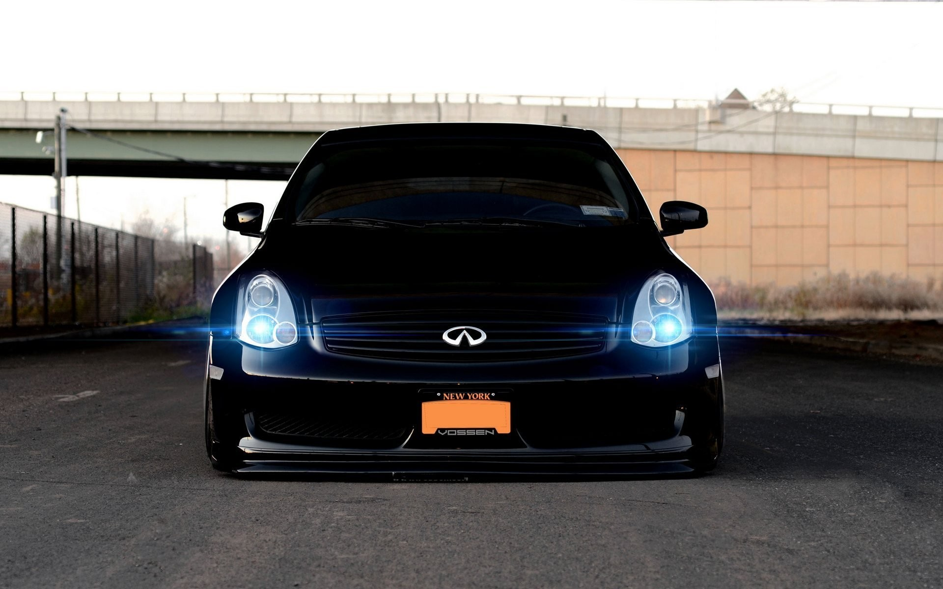1920x1200 Car Wallpapers Black Infiniti G35 Tuning Vossen Vehicles  Wallpapers Black Infinity Tuning Vossen Front Beautiful