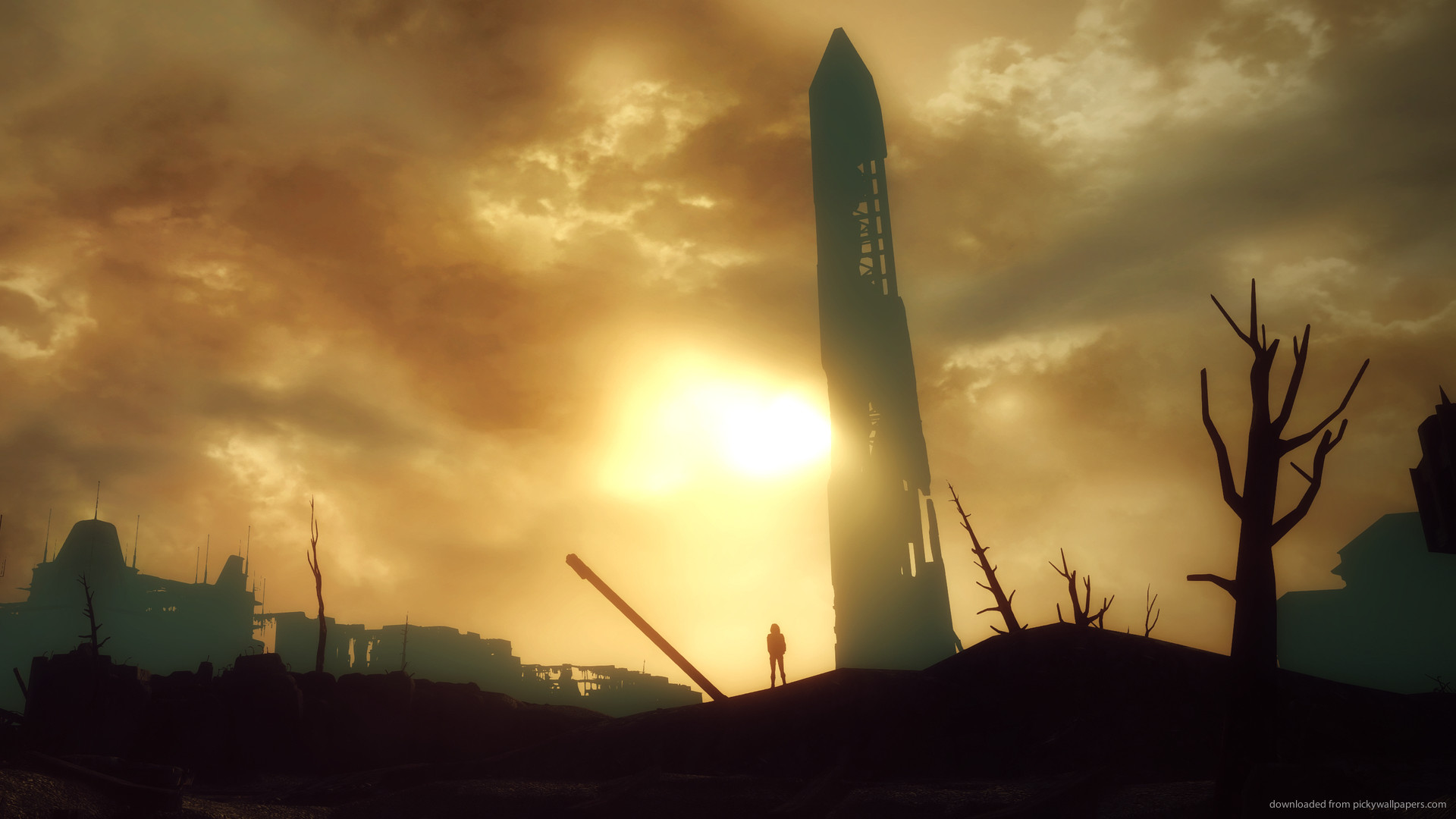 1920x1080 Fallout 3 Sunset Over the Monument for