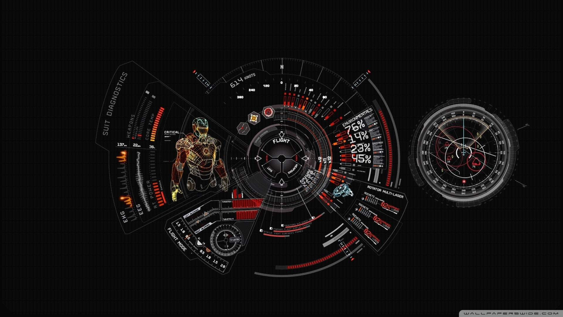 1920x1080 Iron Man Suit Diagnostic HD Wide Wallpaper for Widescreen
