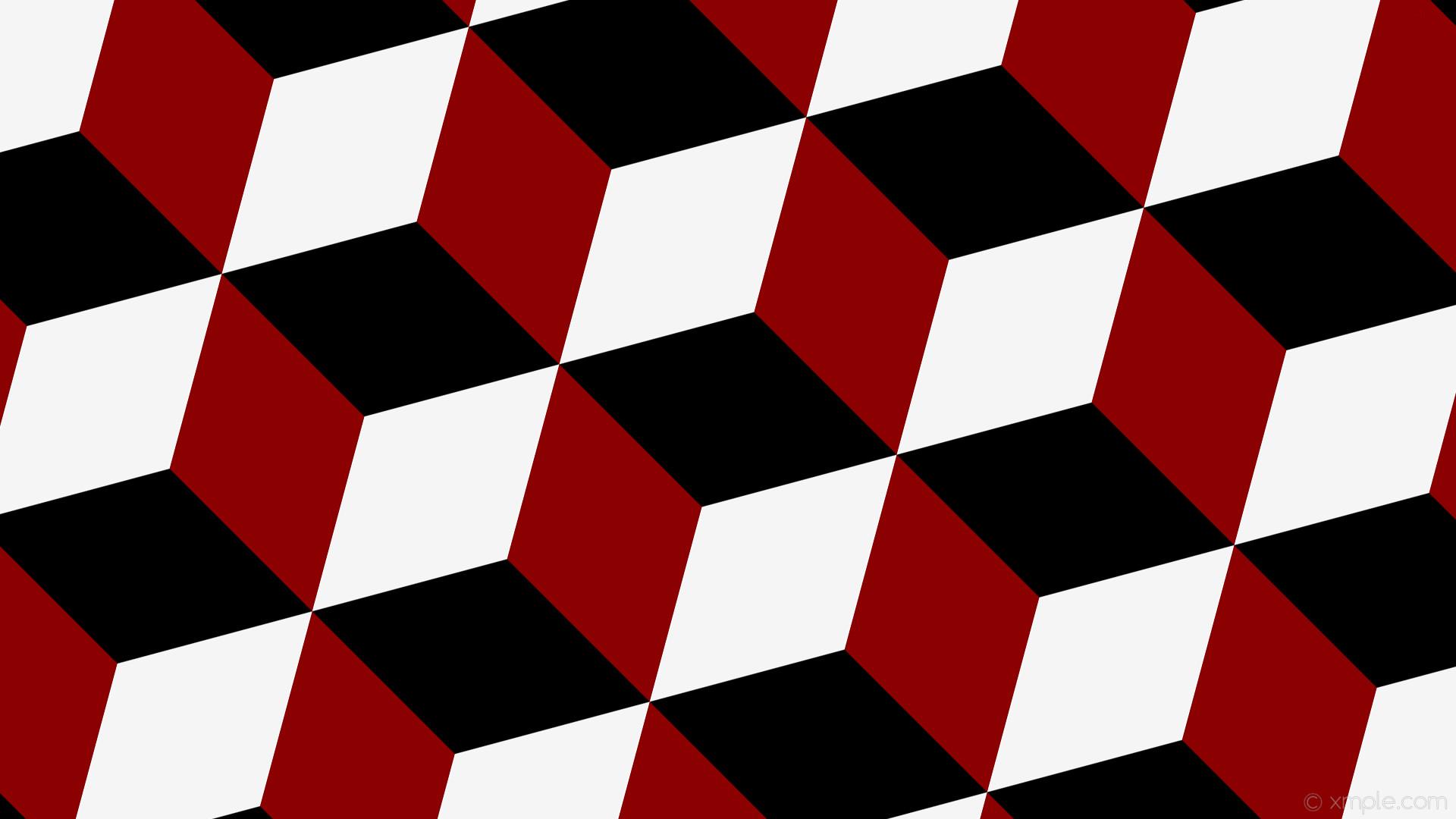 1920x1080 wallpaper red 3d cubes white black dark red white smoke 000000 8b0000 - Red White Wallpaper