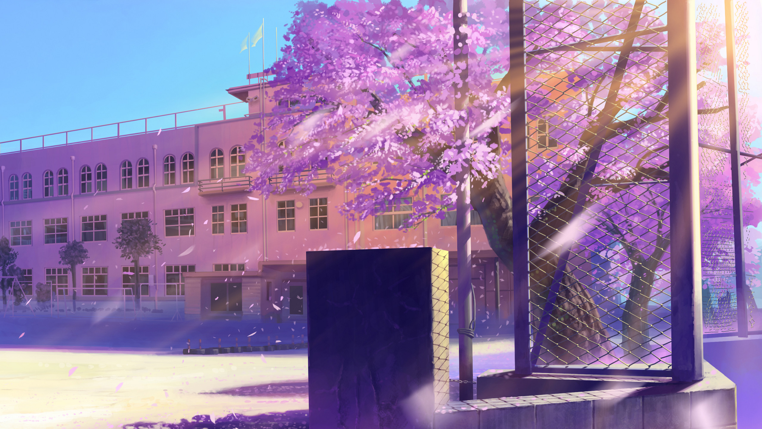 2560x1440 wallpaper.wiki-Anime-Cherry-Blossom-Background-for-PC-