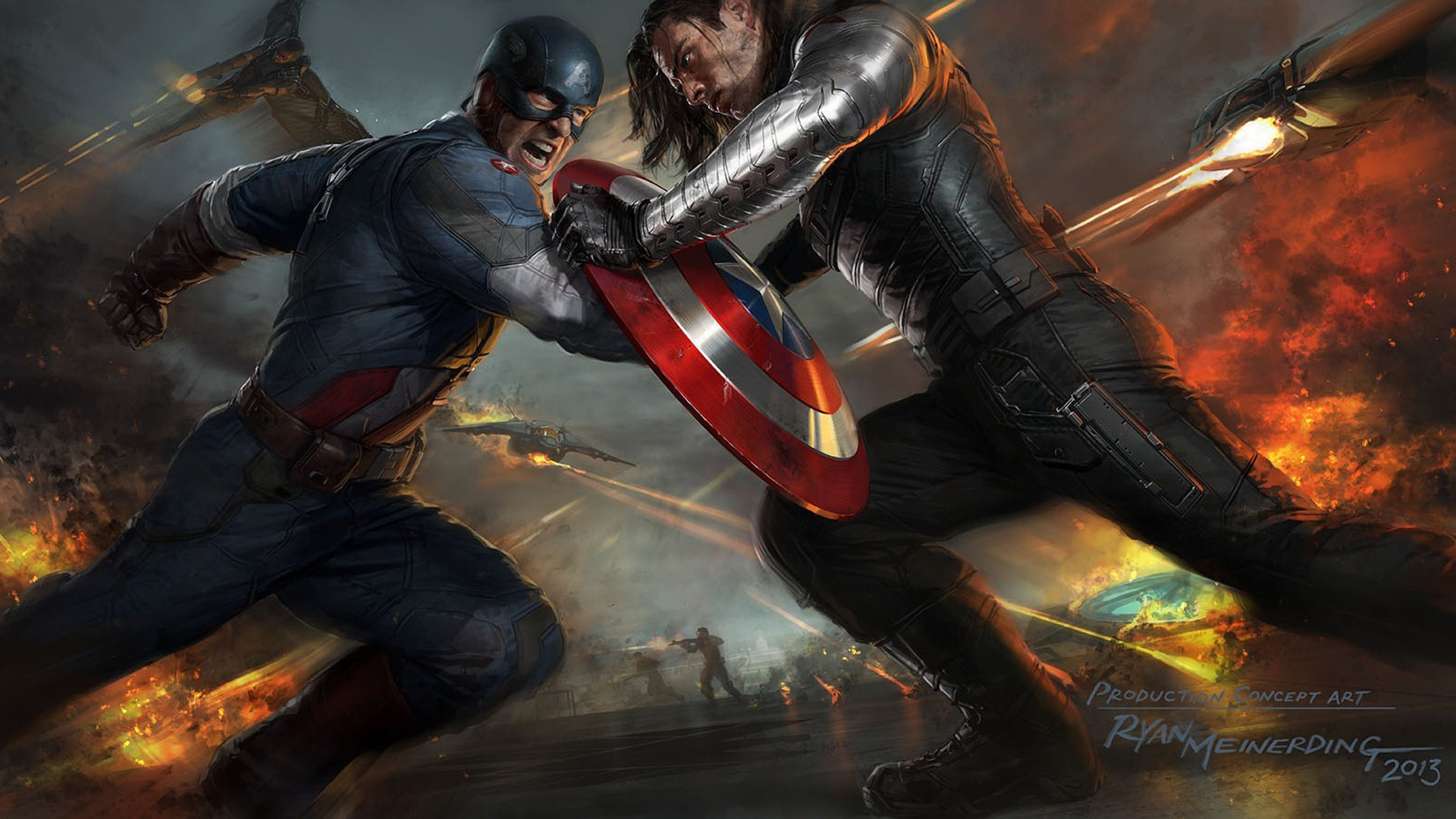 1920x1080 Captain America The Winter Soldier Artwork Wallpapers | HD Wallpapers