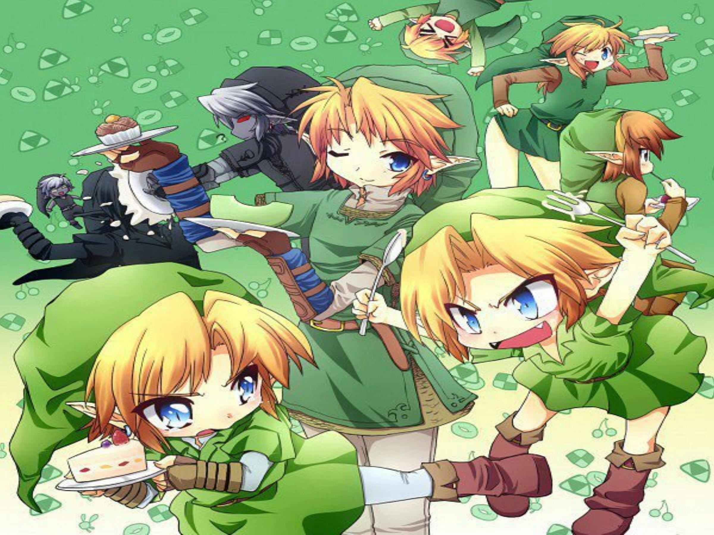 Zelda and link in love wallpaper