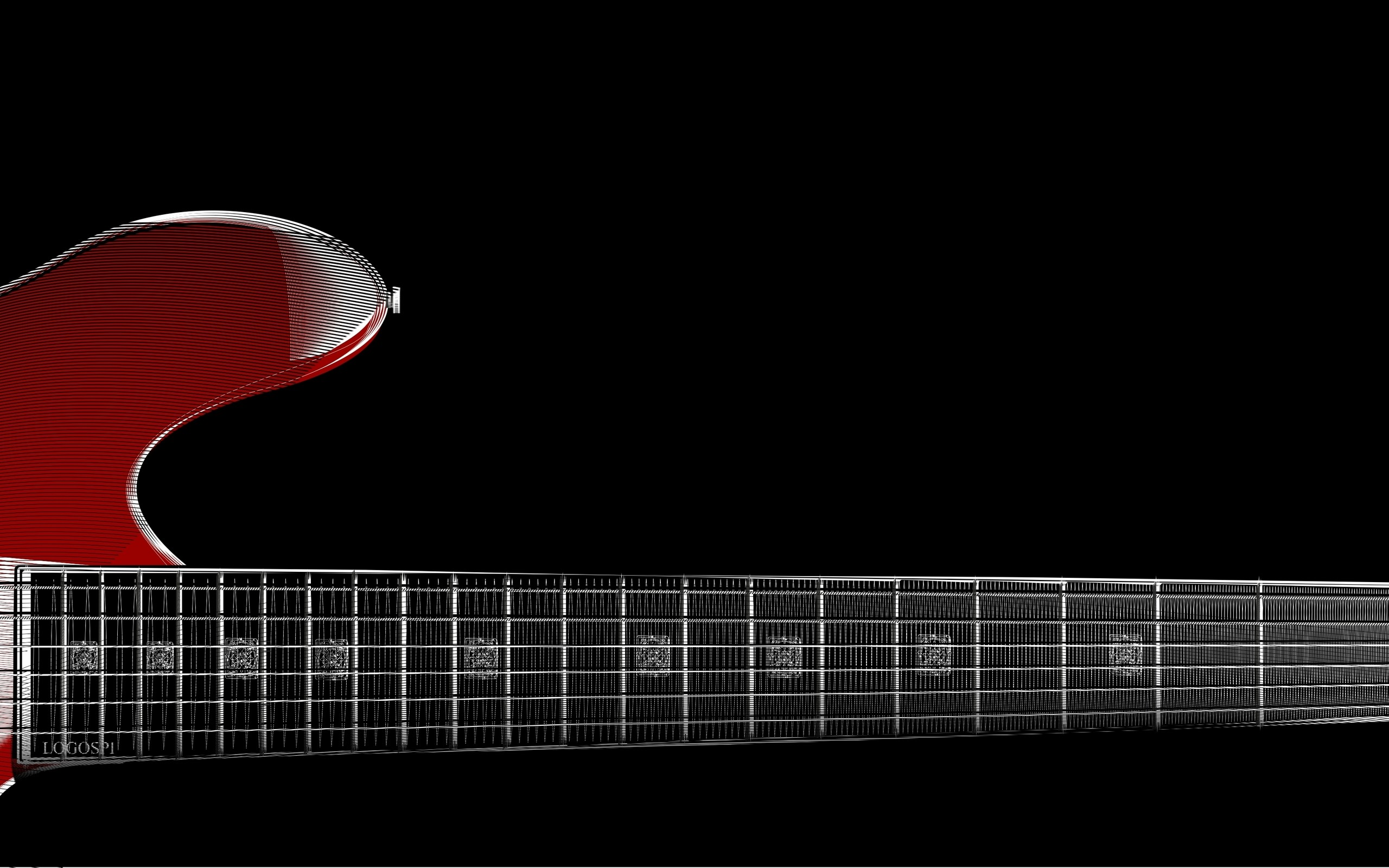 2560x1600 2560x1440 zoom red guitar