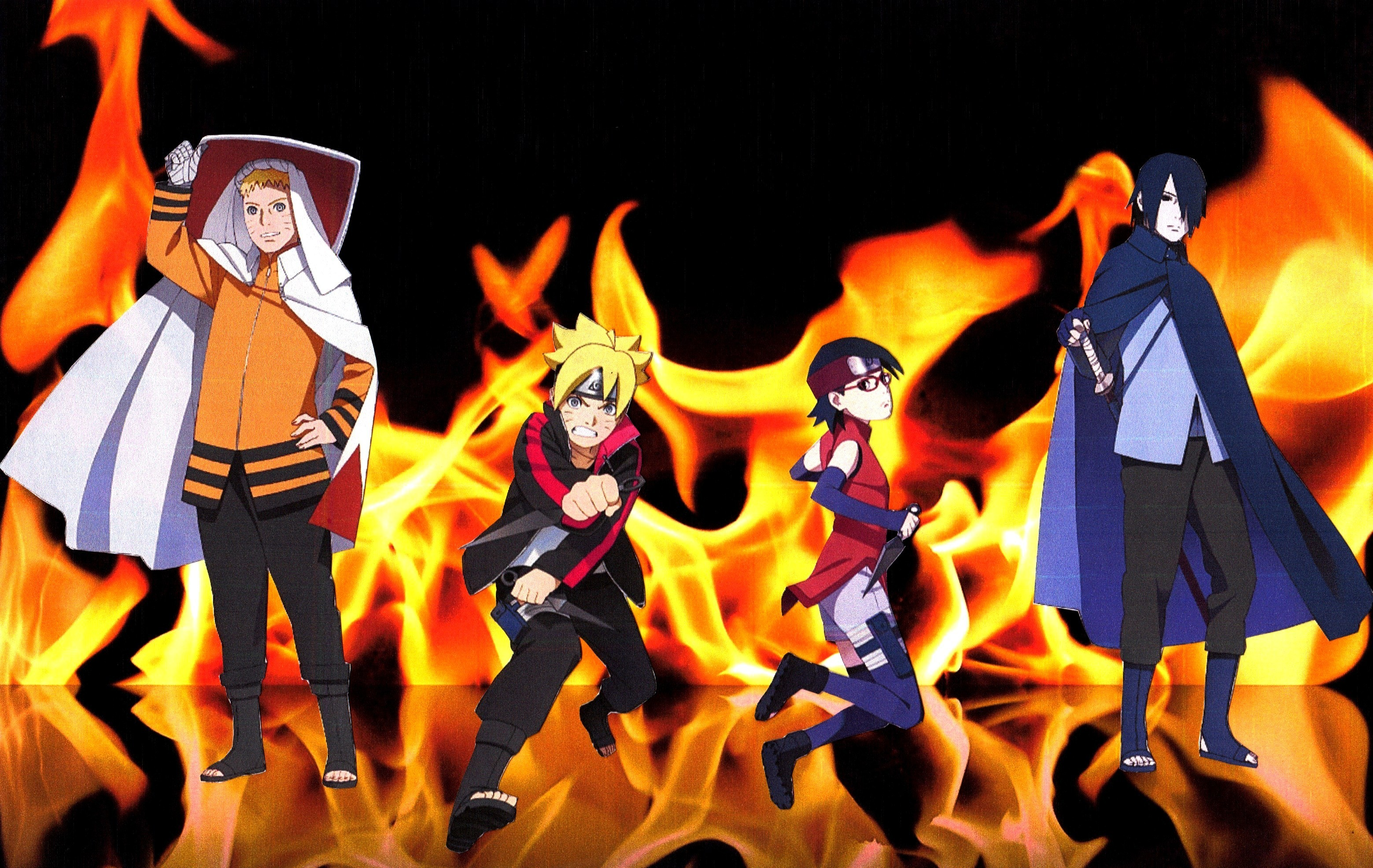 3118x1971 naruto sasuke boruto sarada fire wallpaper 2 by weissdrum on