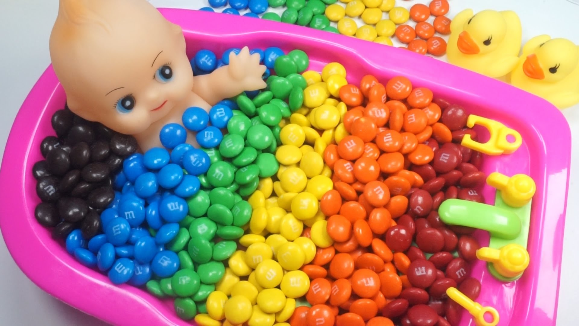 1920x1080 Learn Colors Baby Doll Bath Time M&M's Chocolate Candy How to Bath Baby  Videos Kids Pretend Play - YouTube