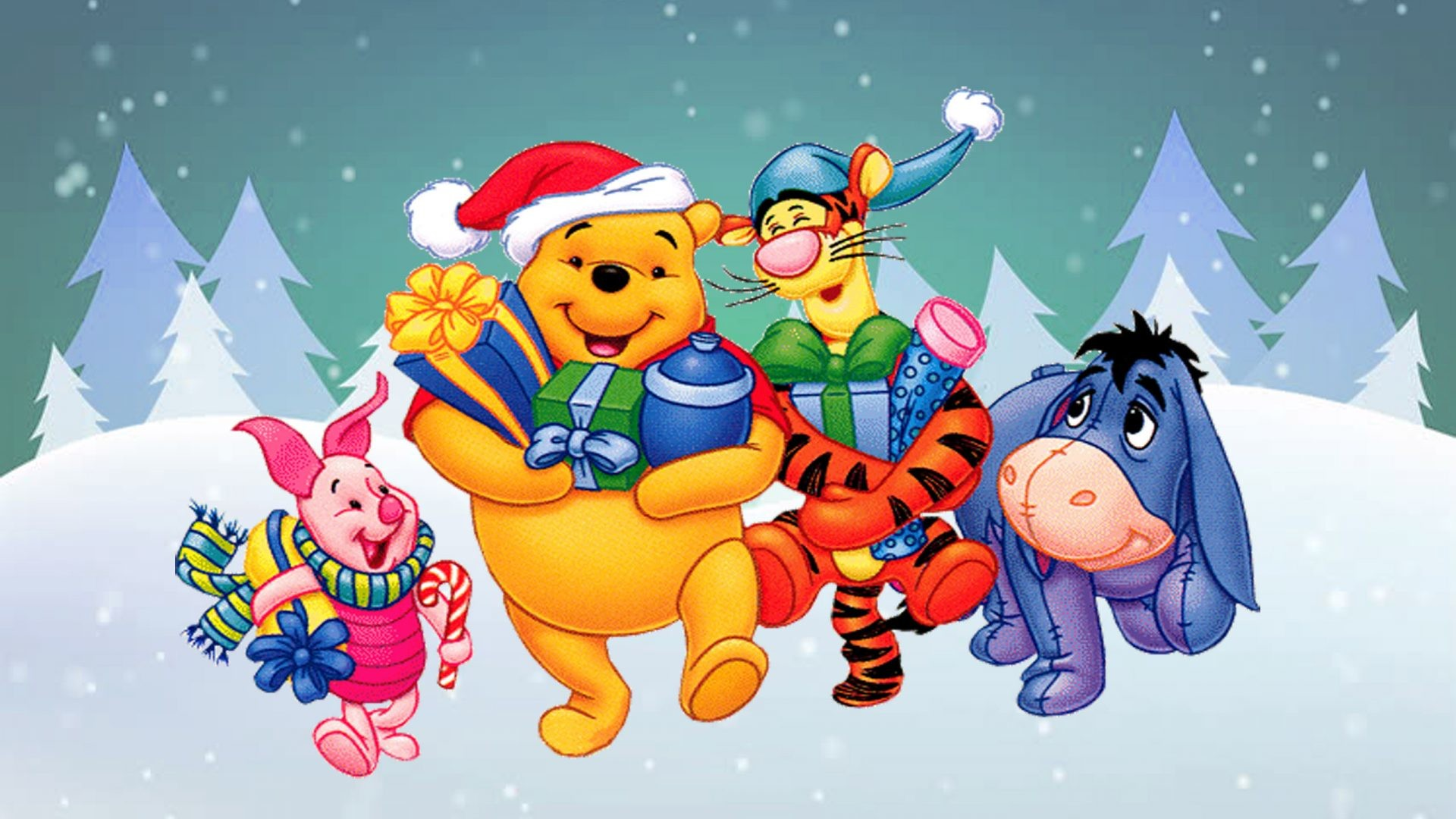 Winnie The Pooh And Christmas Too.Winnie The Pooh Christmas Wallpaper 46 Images