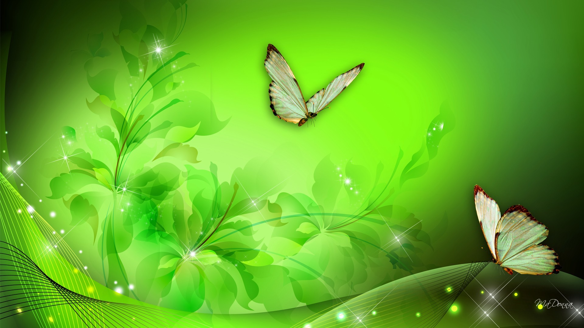 Neon Green And Blue Backgrounds