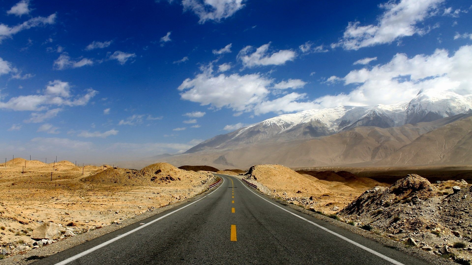 1920x1080 Karakoram Highway Pakistan China Road Wallpaper