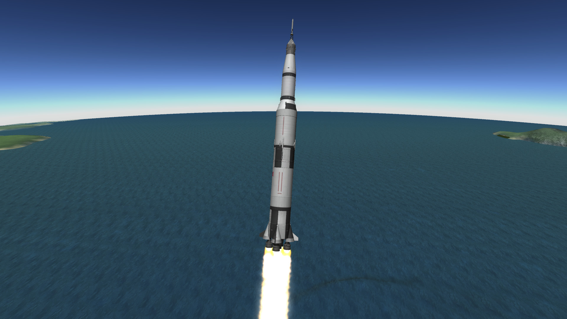 1920x1080 Apollo recreation using the new Bluedog Design Bureau Saturn V, Apollo, and  LM!