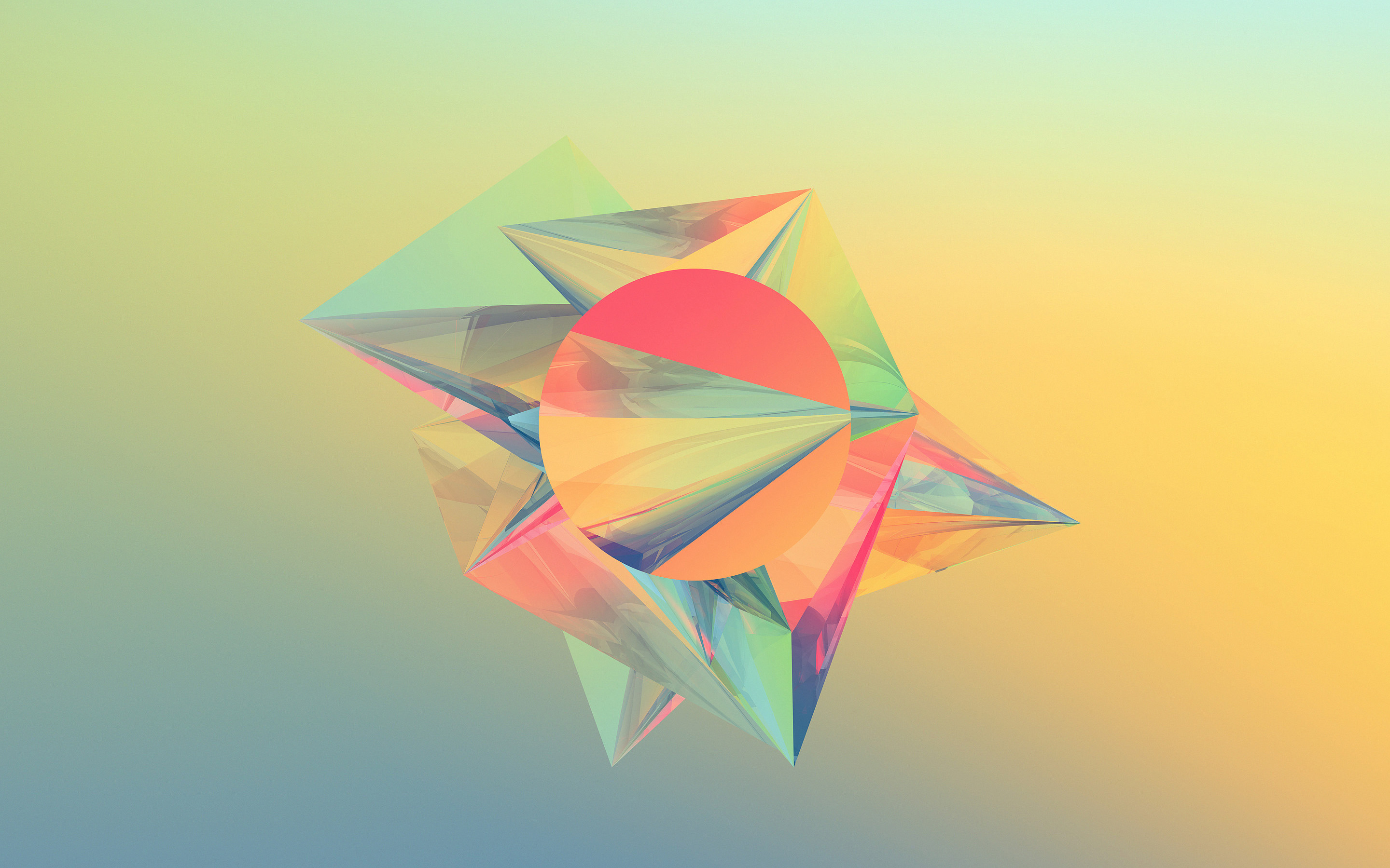 2880x1800 Abstract Crystals Shape Colorful Desktop Wallpaper Uploaded by 10Mantra