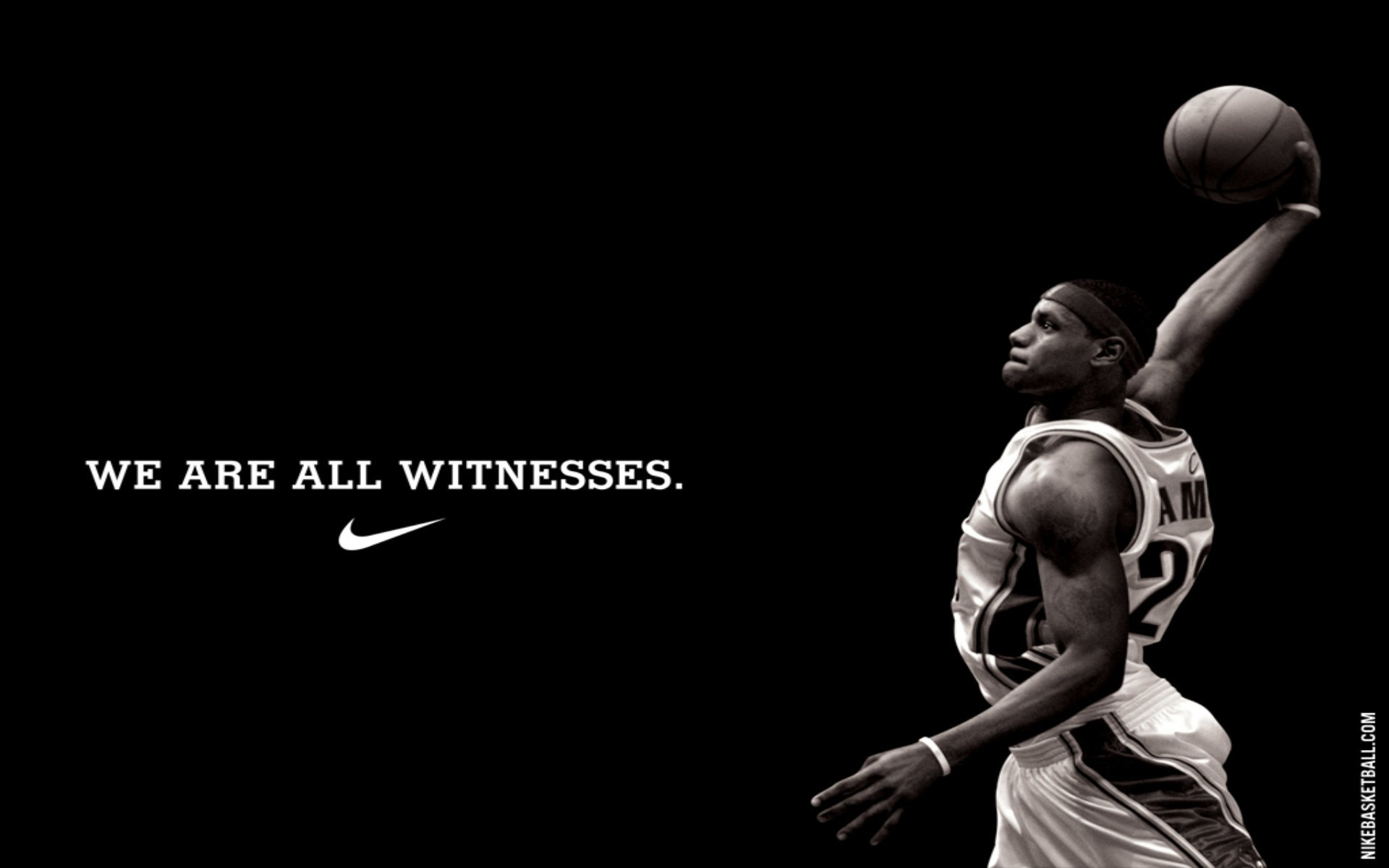 1920x1200 Lebron James We Are All Witnesses wallpaper