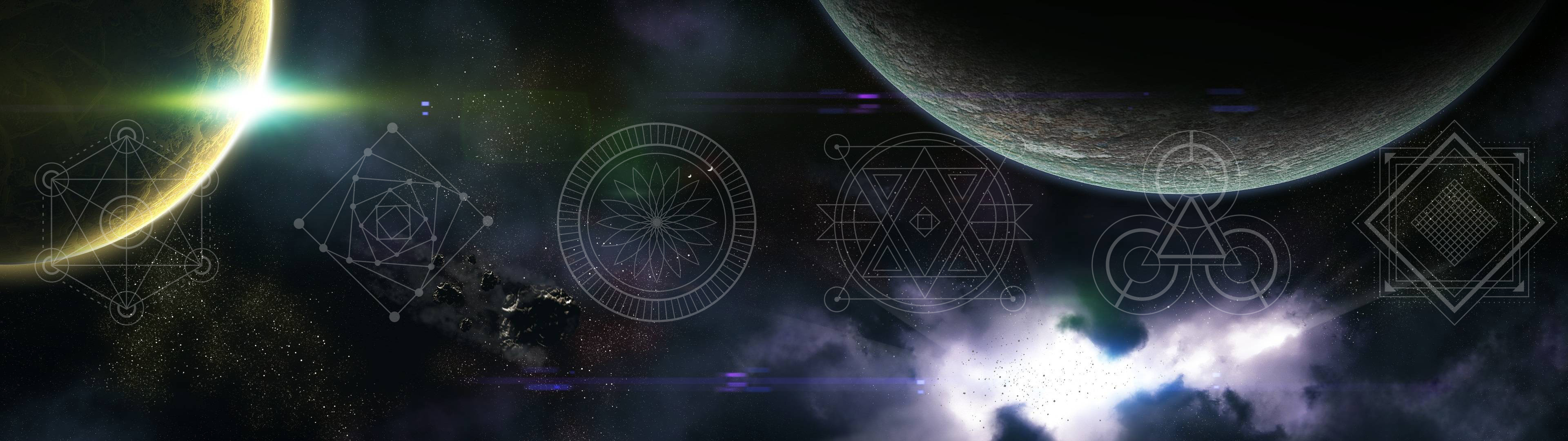 3840x1080 Sacred geometry and space wallpapers (part1)