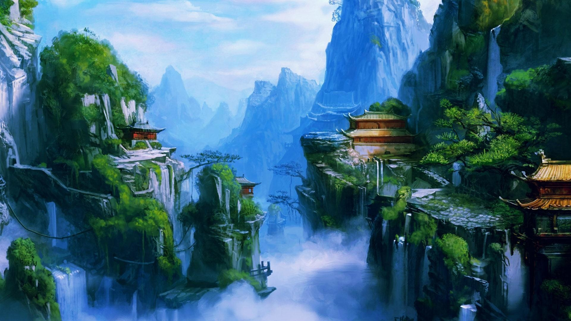 anime nature landscape fantasy wiki