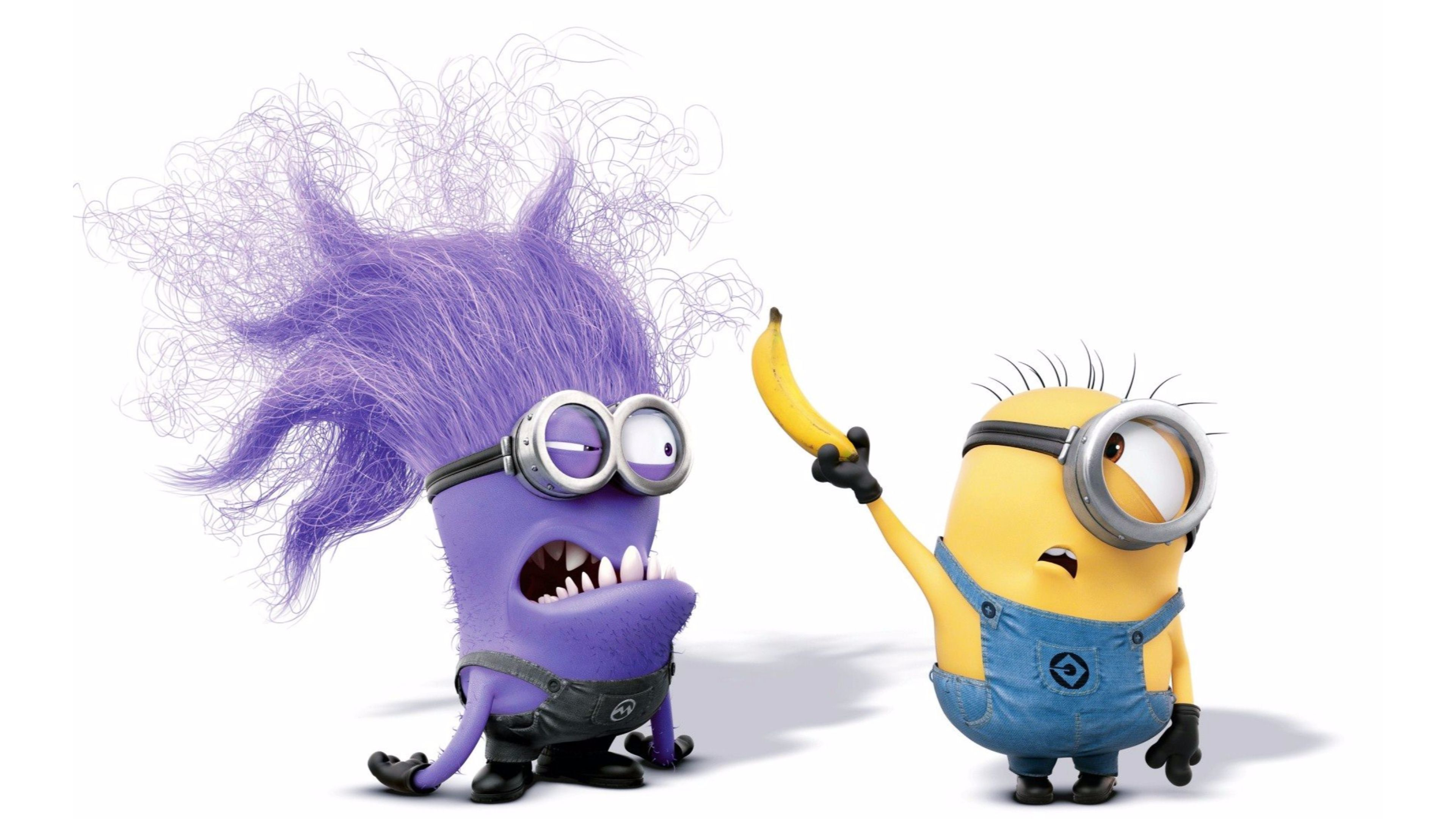 3840x2160 Purple 4K Minions Wallpaper