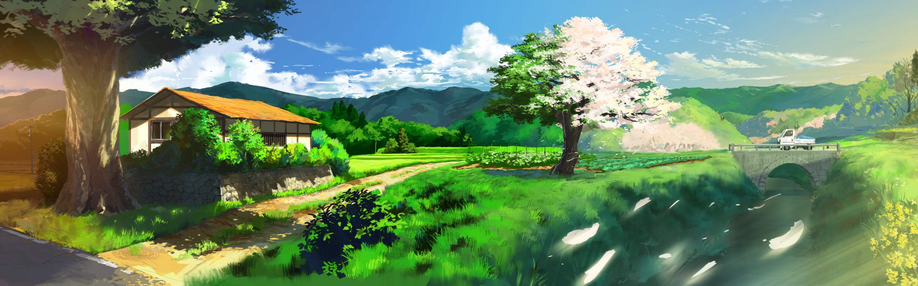 Anime dual monitor wallpaper 46 images - 2 screen wallpaper nature ...